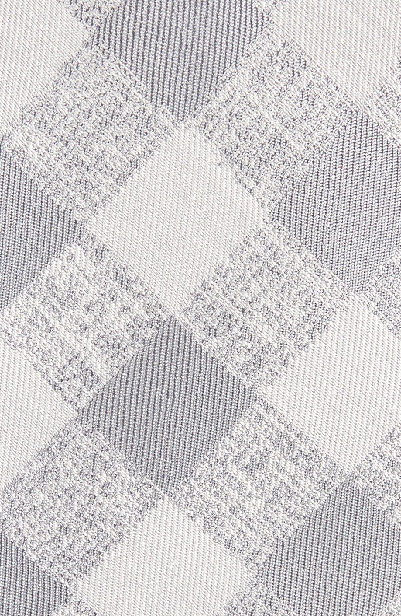 Tigrane Check Silk & Cotton Tie,                             Alternate thumbnail 2, color,                             Grey