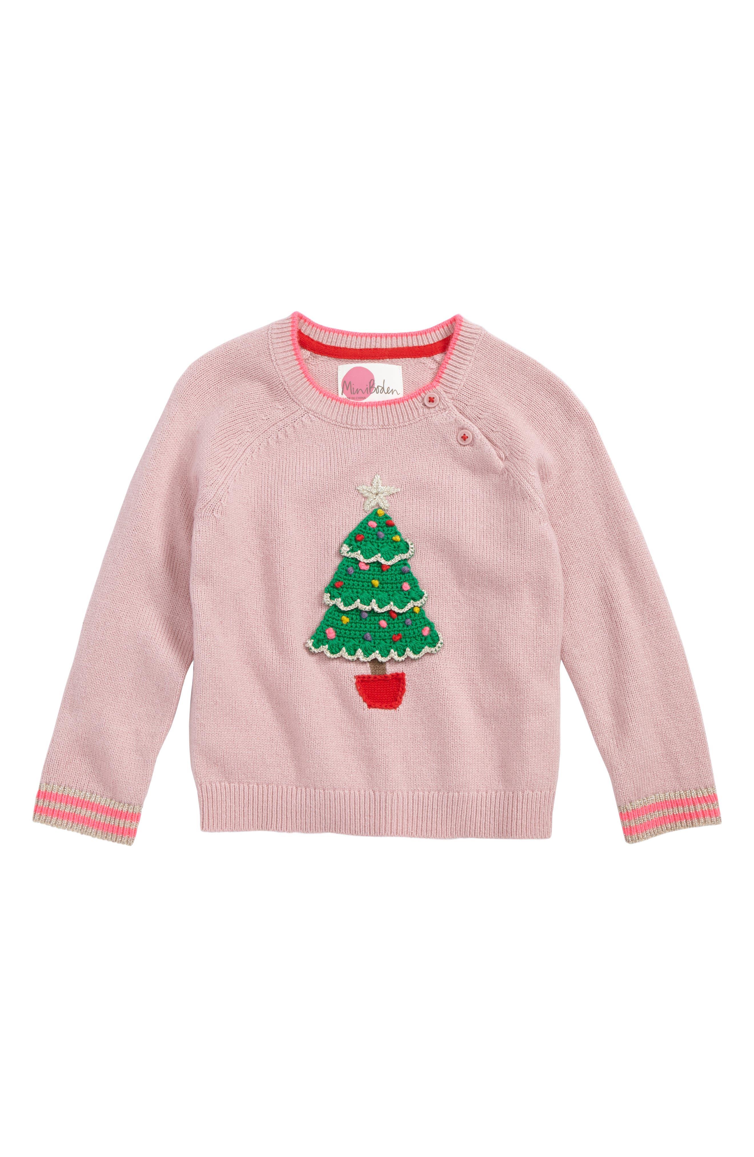 Mini Boden Fun Festive Sweater (Toddler Girls, Little Girls & Big Girls)