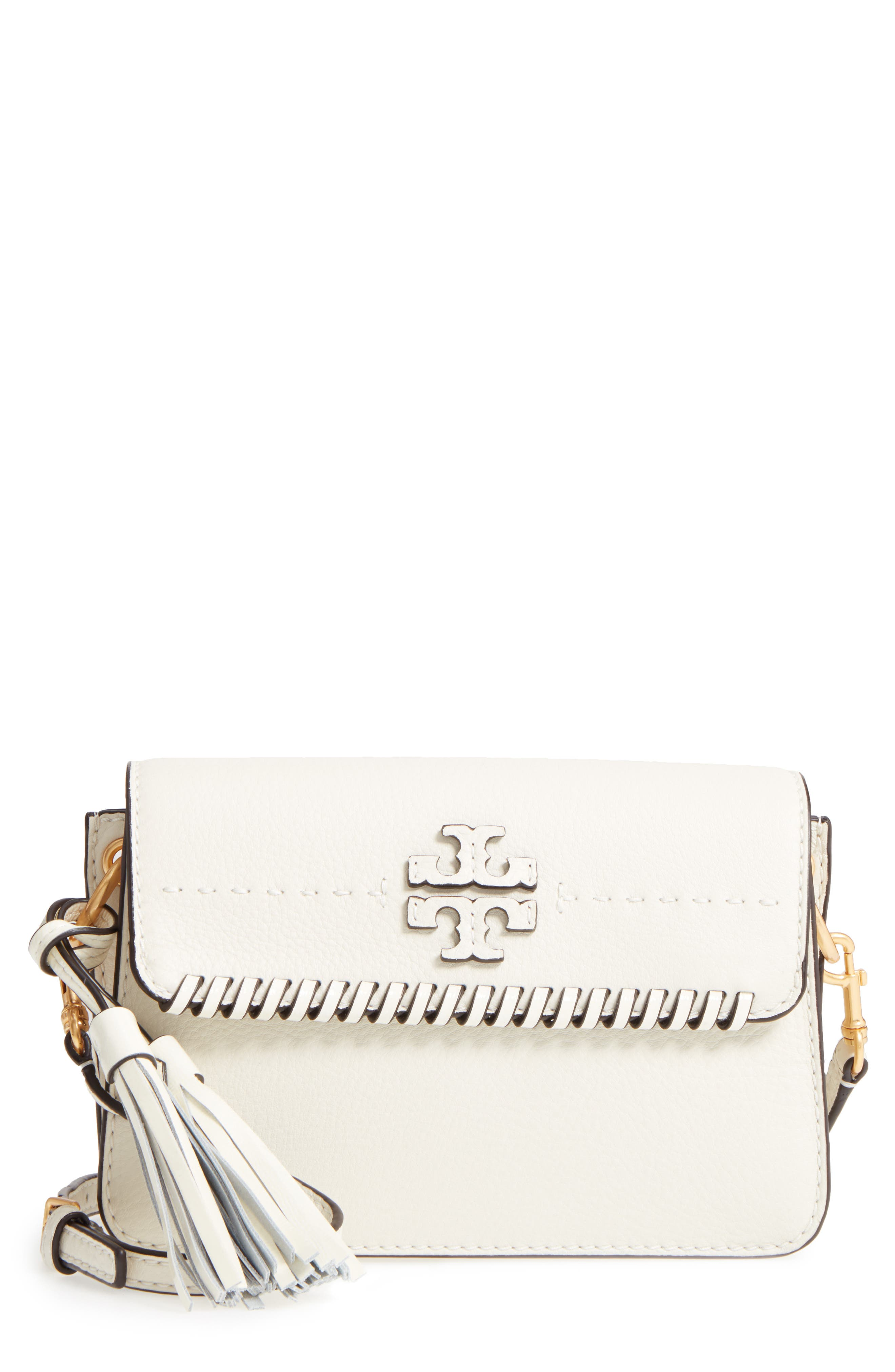 McGraw Whipstitch Leather Crossbody Bag,                             Main thumbnail 1, color,                             New Ivory