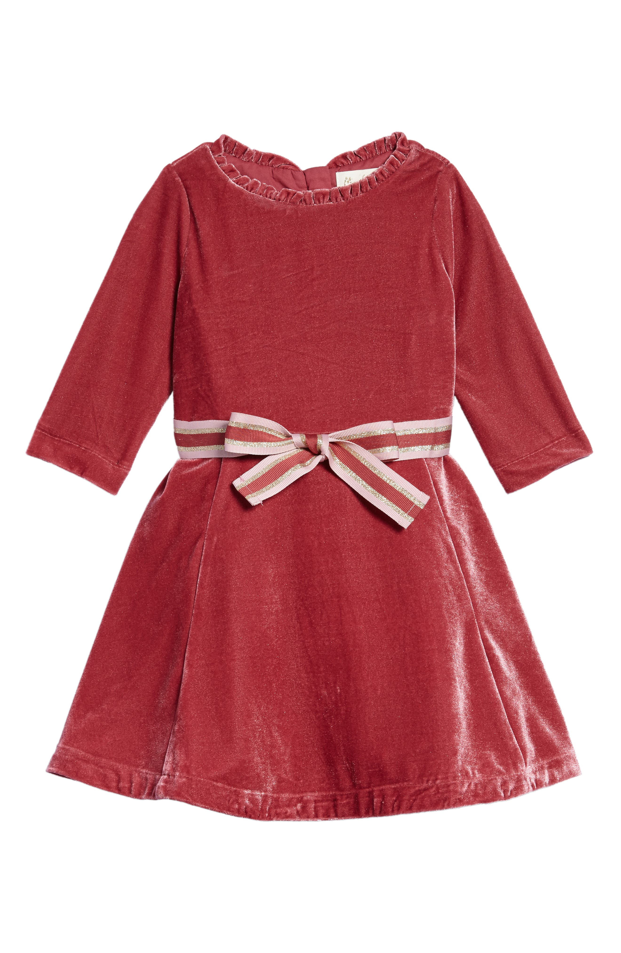 Mini Boden Velvet Skater Dress (Toddler Girls, Little Girls & Big Girls)