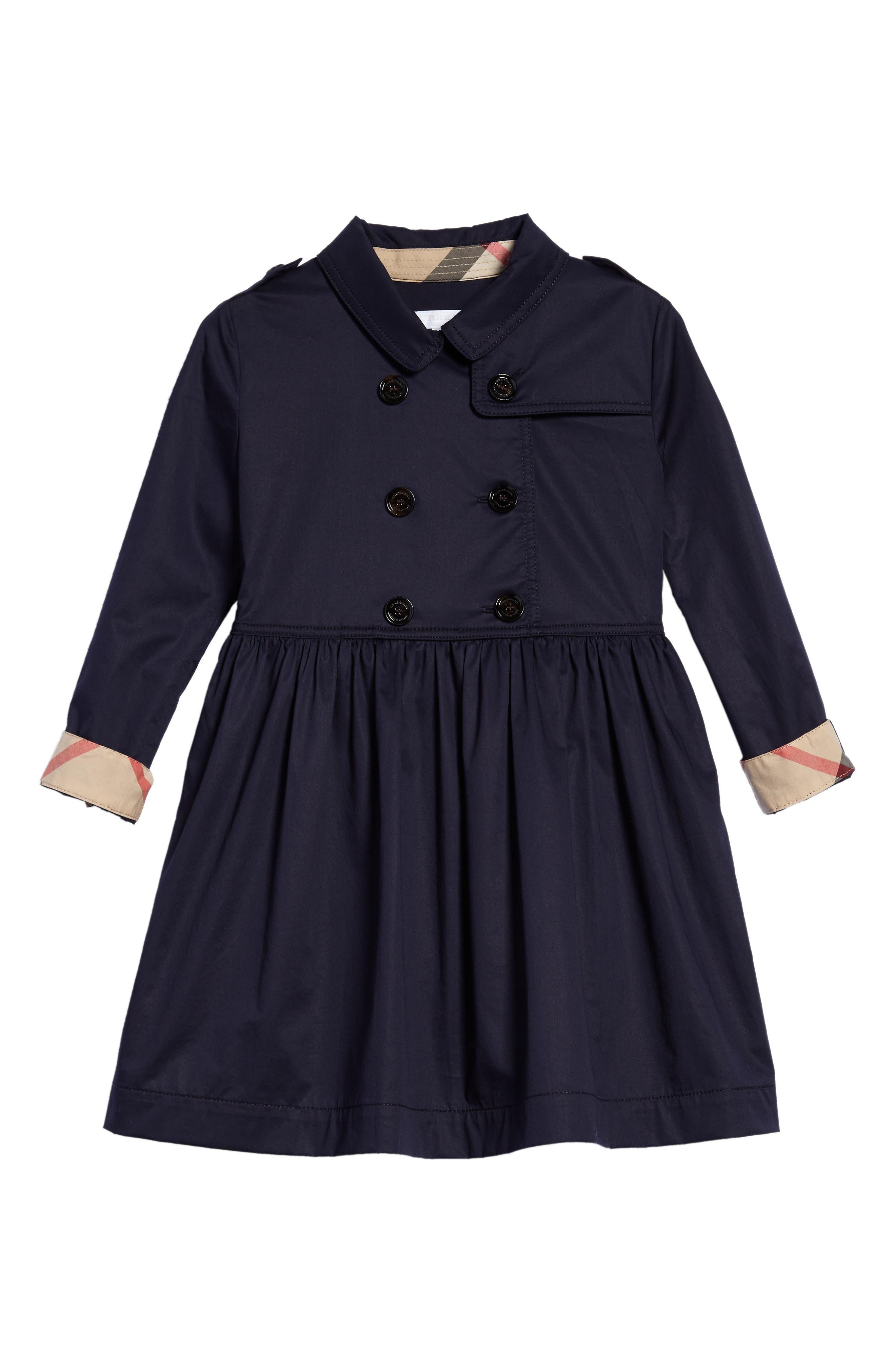 Alternate Image 1 Selected - Burberry Lillyana Trench Dress (Little Girls & Big Girls)