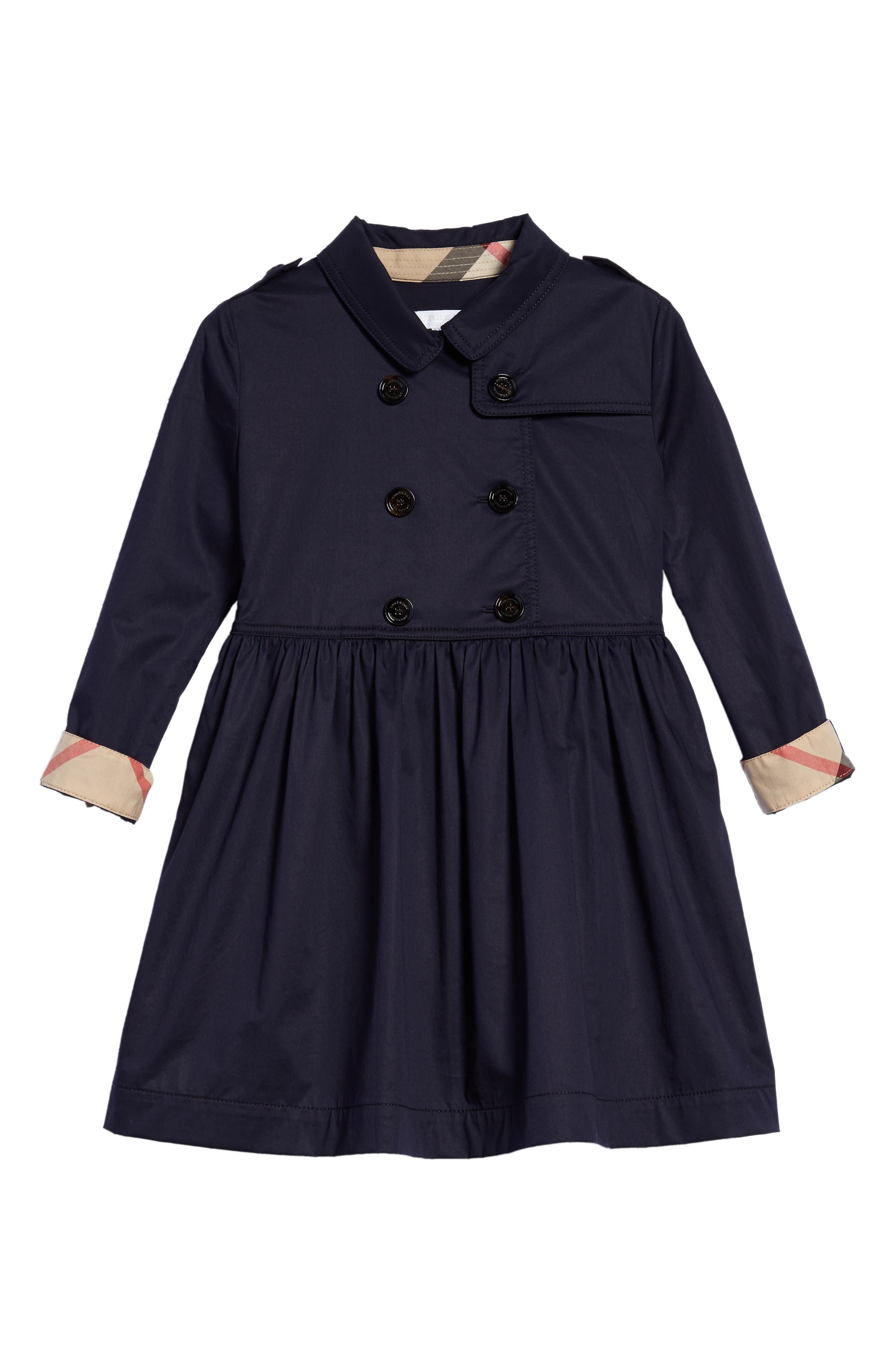 Lillyana Trench Dress,                         Main,                         color, Midnight Blue