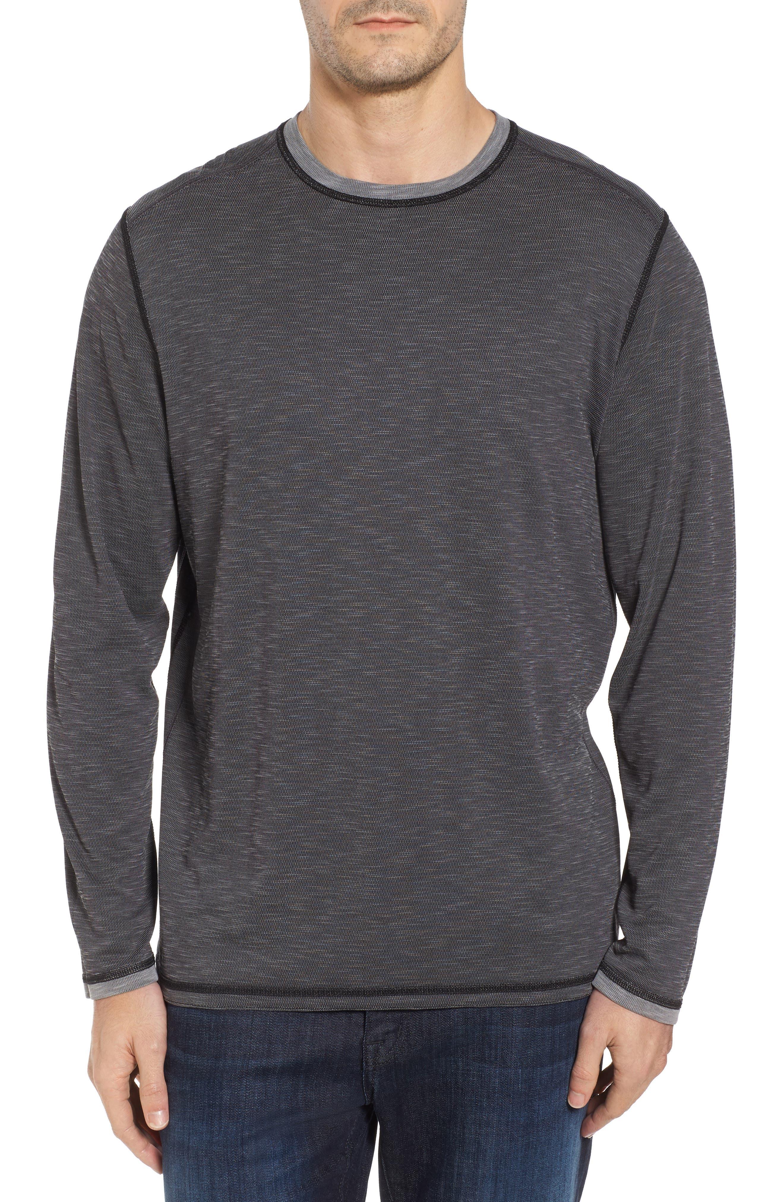 Flip Tide Long Sleeve T-Shirt,                             Alternate thumbnail 2, color,                             Coal
