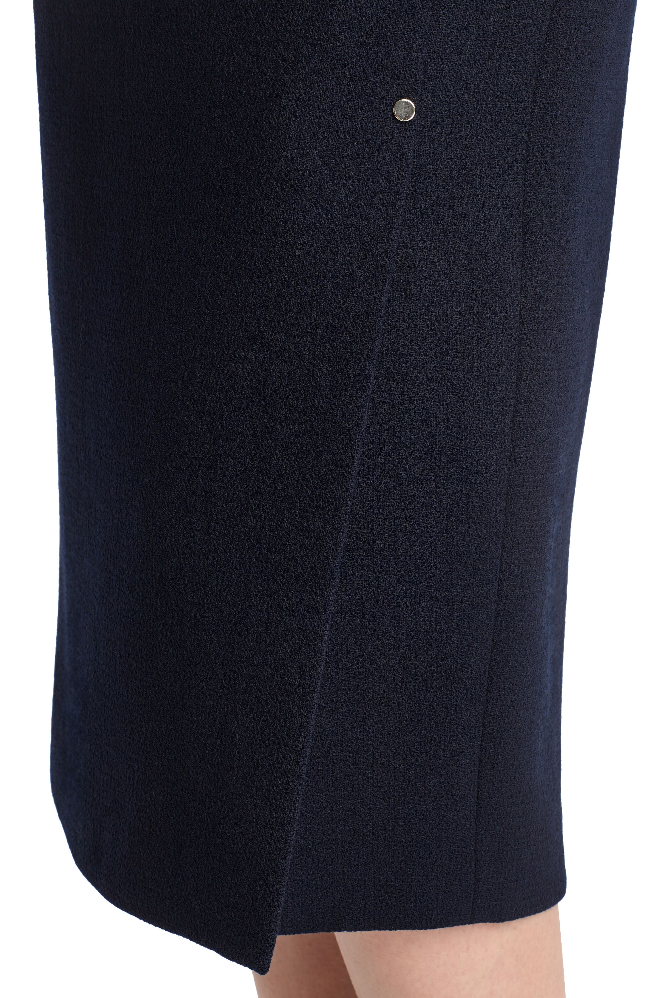 Lucina Nouveau Crepe Skirt,                             Alternate thumbnail 4, color,                             Ink