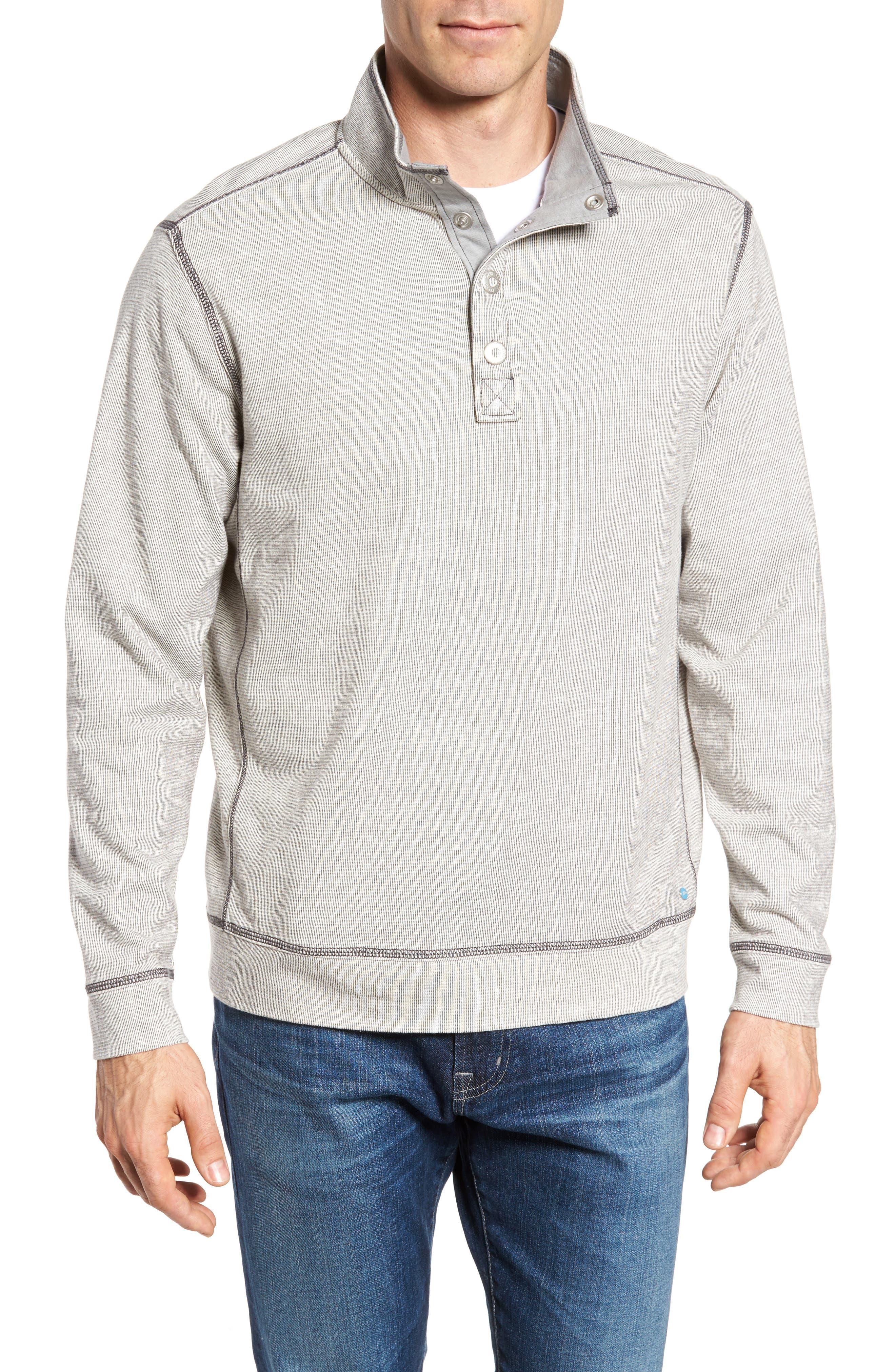 Tommy Bahama Ocean Mist Snap Mock Neck Sweater