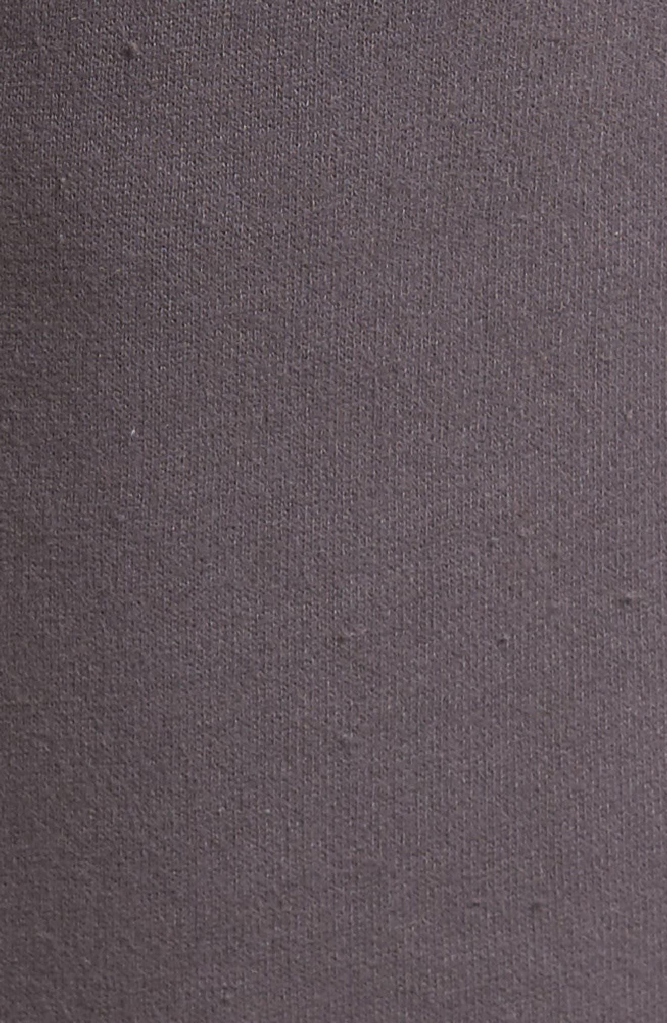 Fleece Shorts,                             Alternate thumbnail 5, color,                             Grey Onyx