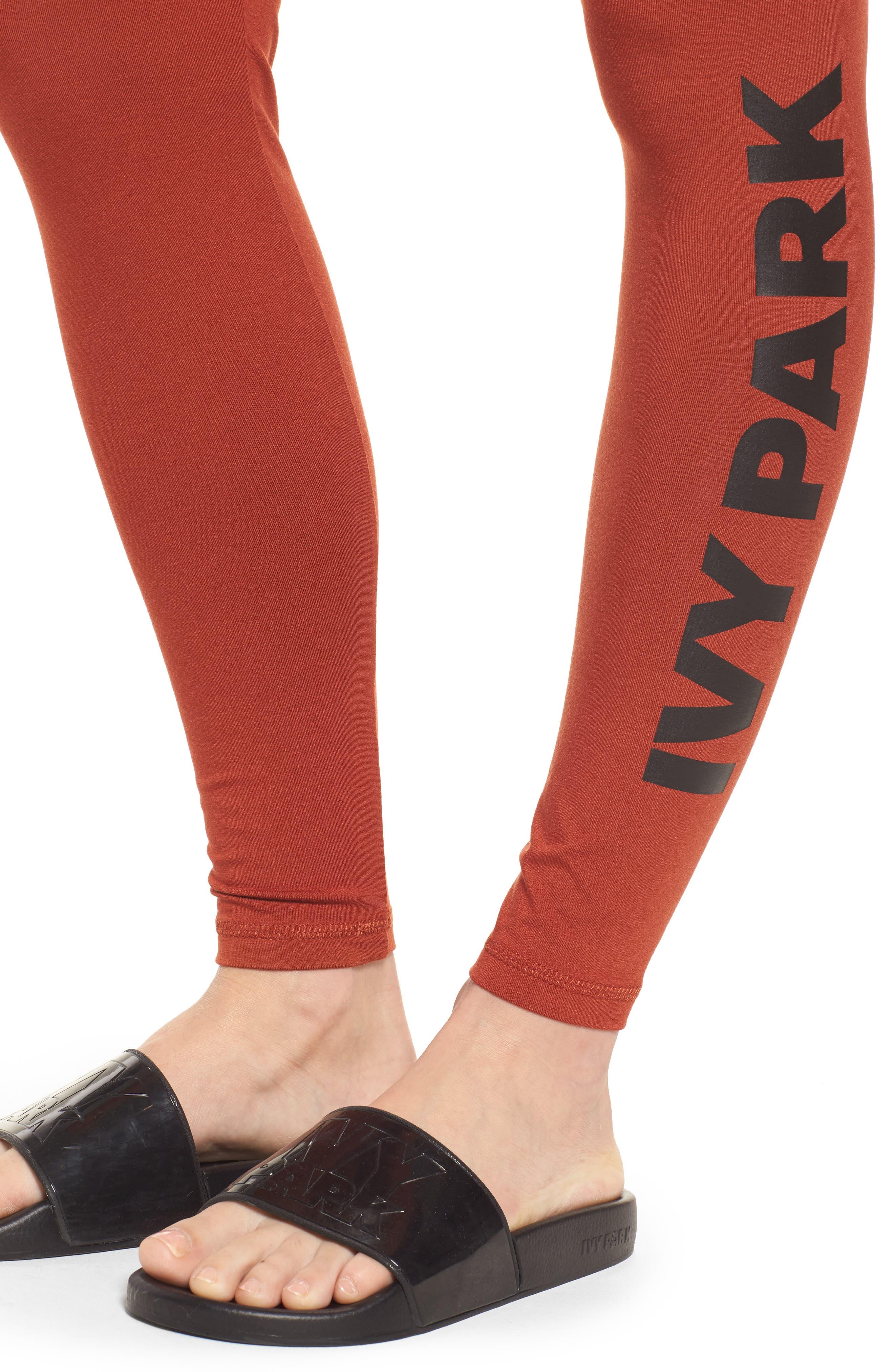 Alternate Image 4  - IVY PARK® Logo Ankle Leggings