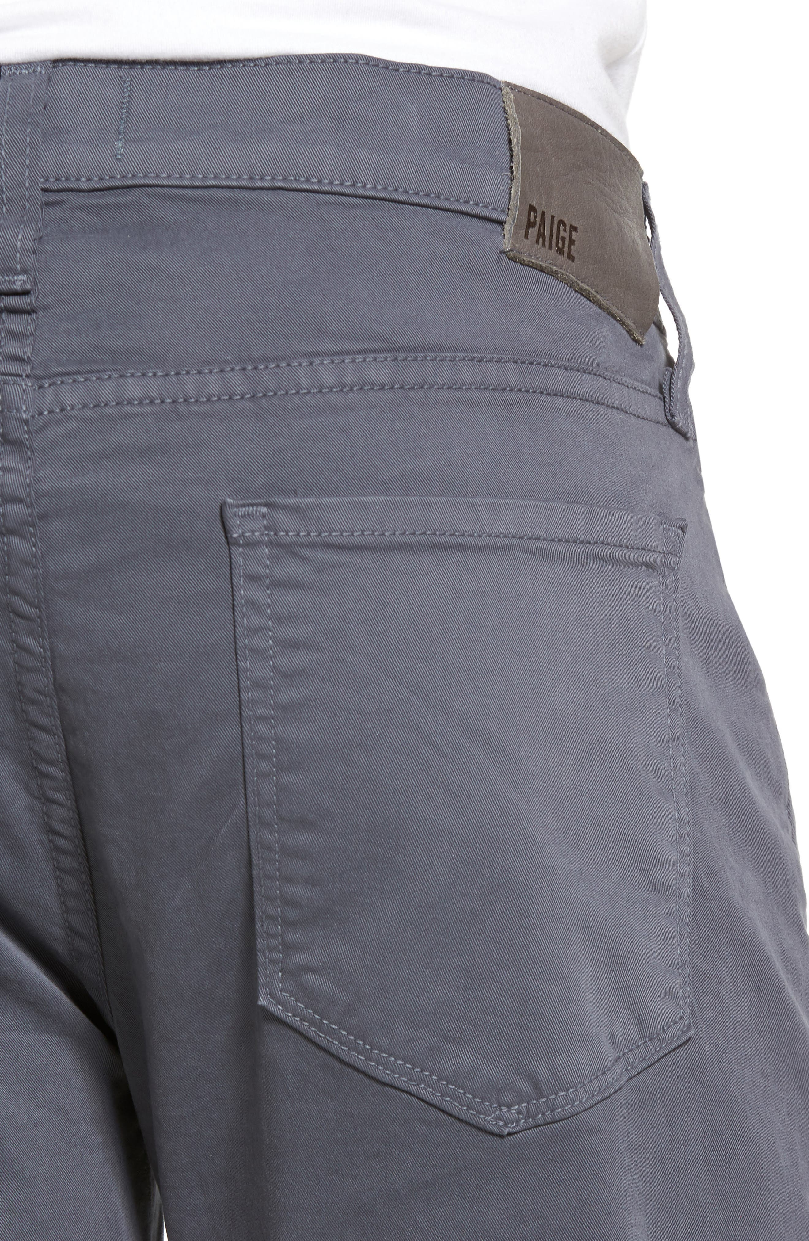 Federal Slim Straight Leg Twill Pants,                             Alternate thumbnail 4, color,                             Moon Shade