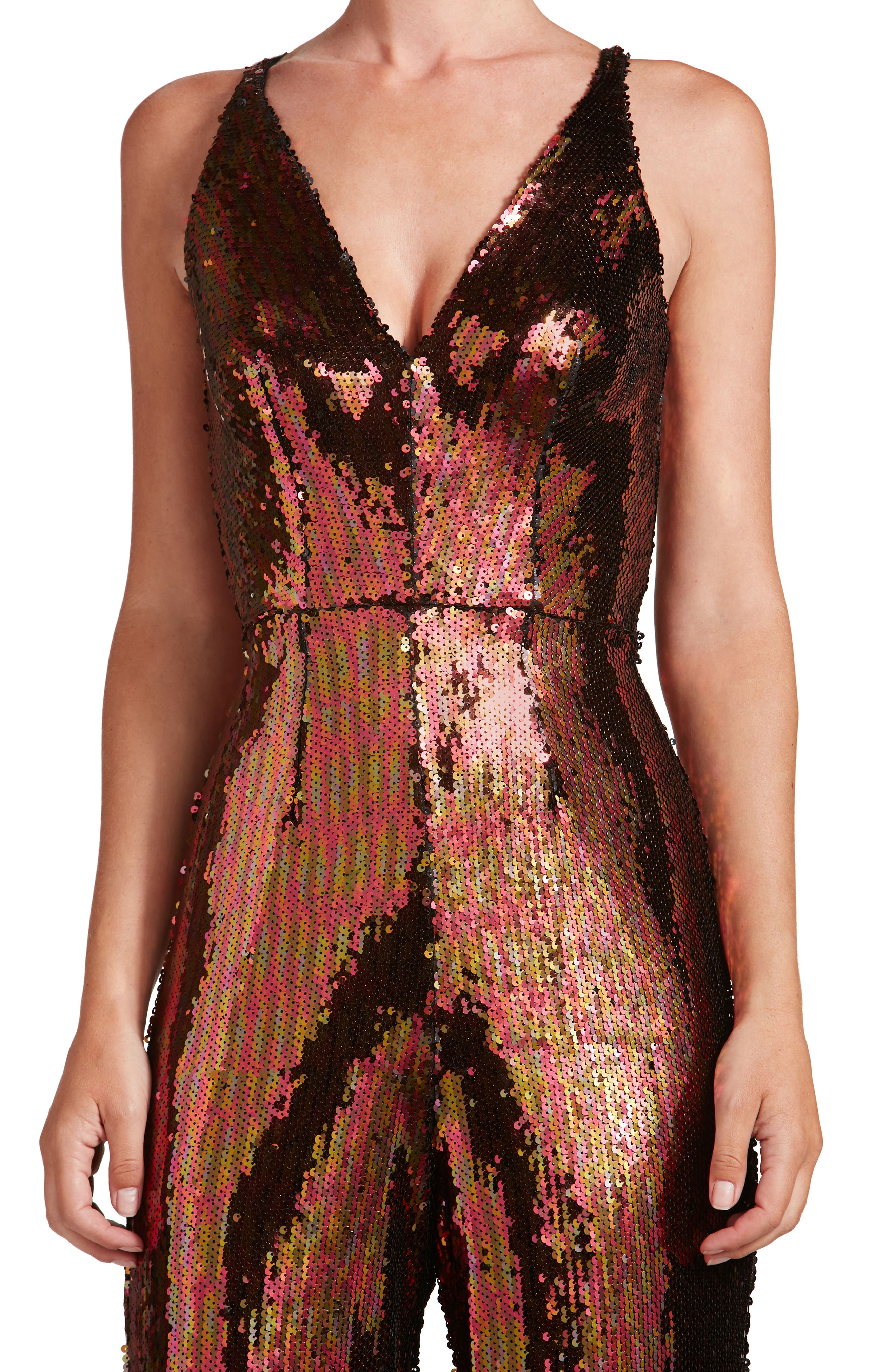 Alternate Image 3  - Dress the Population Charlie Sequin Jumpsuit