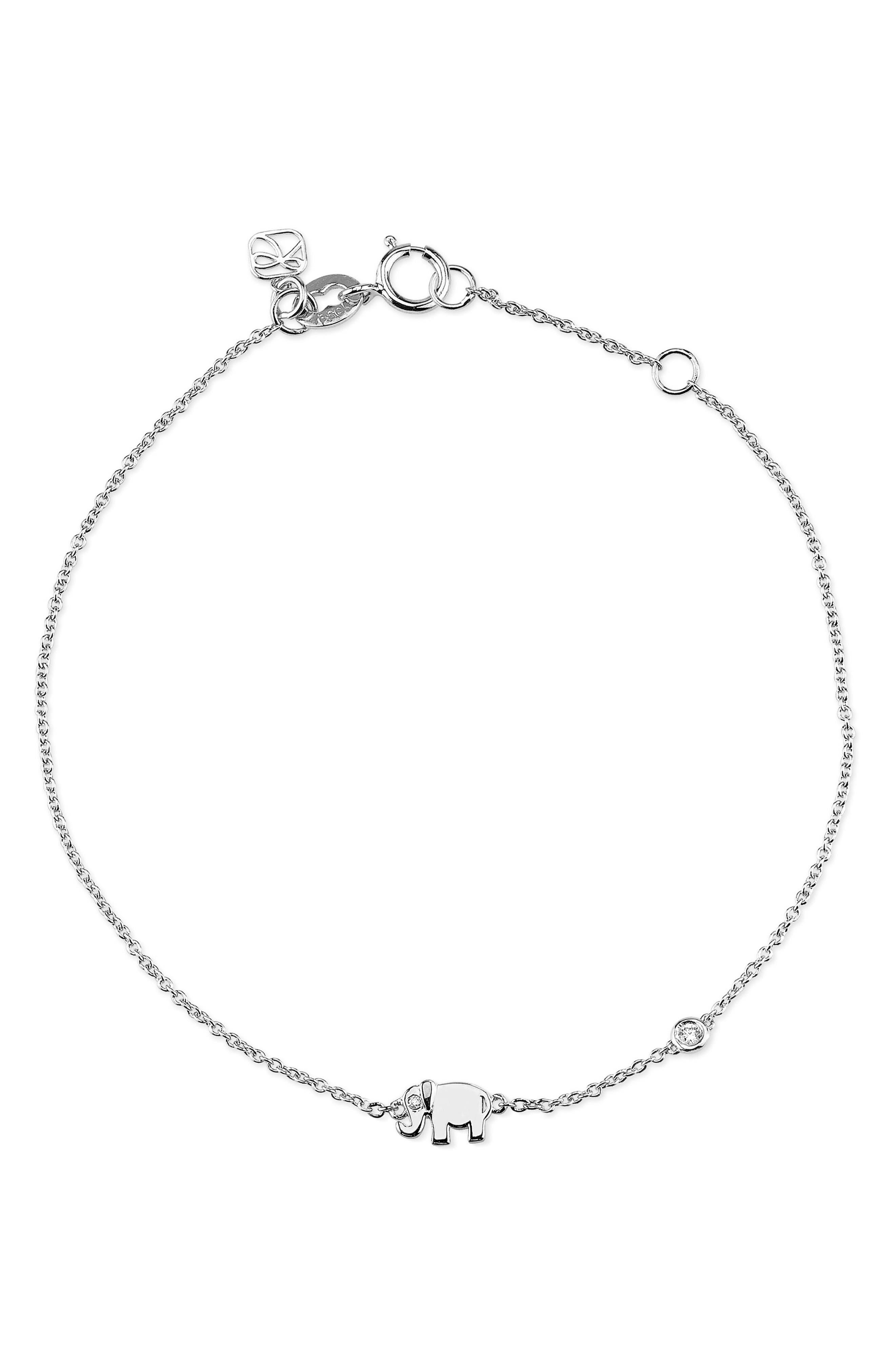 Infinity Chain Bracelet,                         Main,                         color, Silver