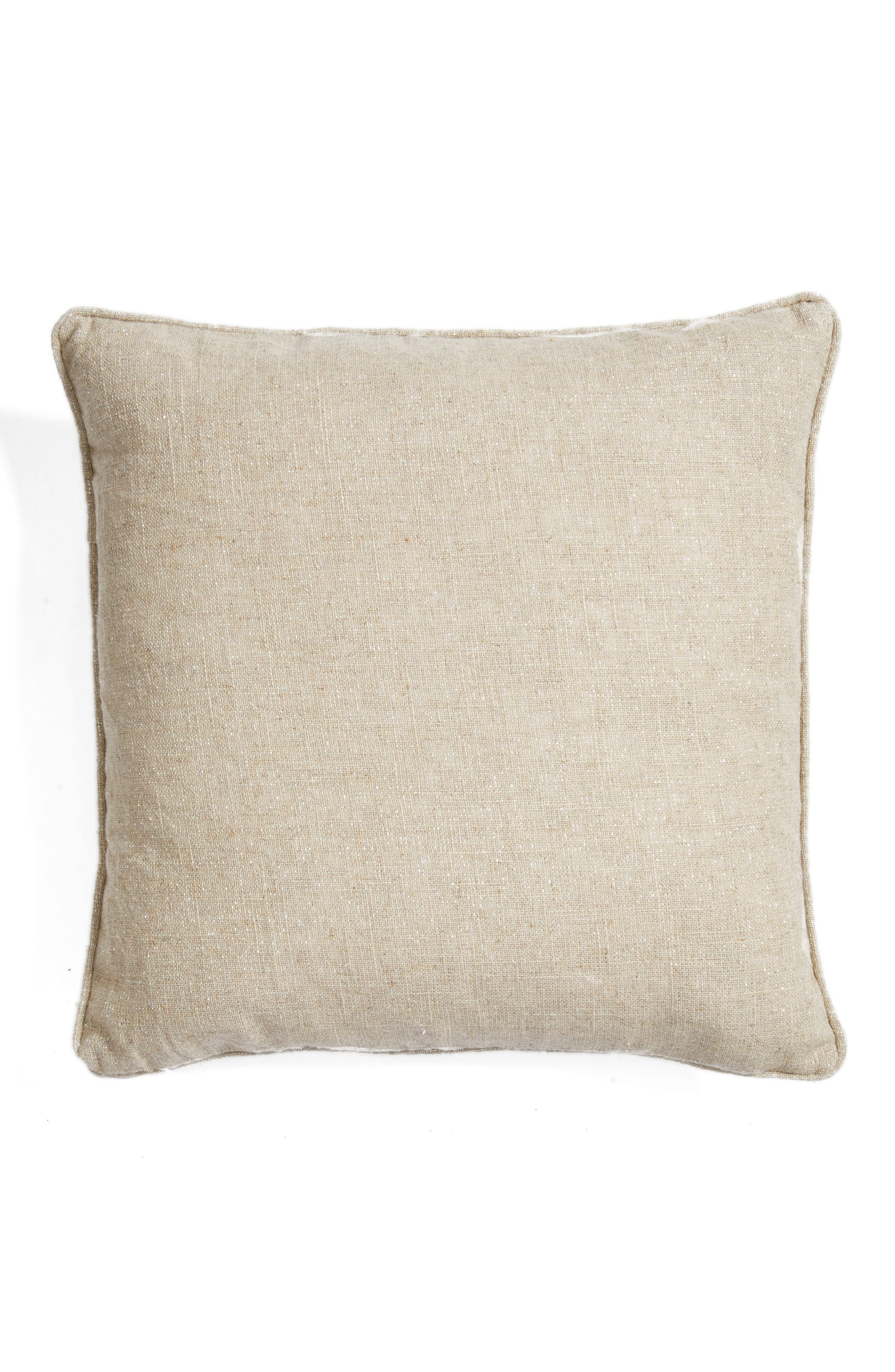 Pompom Heart Accent Pillow,                             Alternate thumbnail 2, color,                             Natural