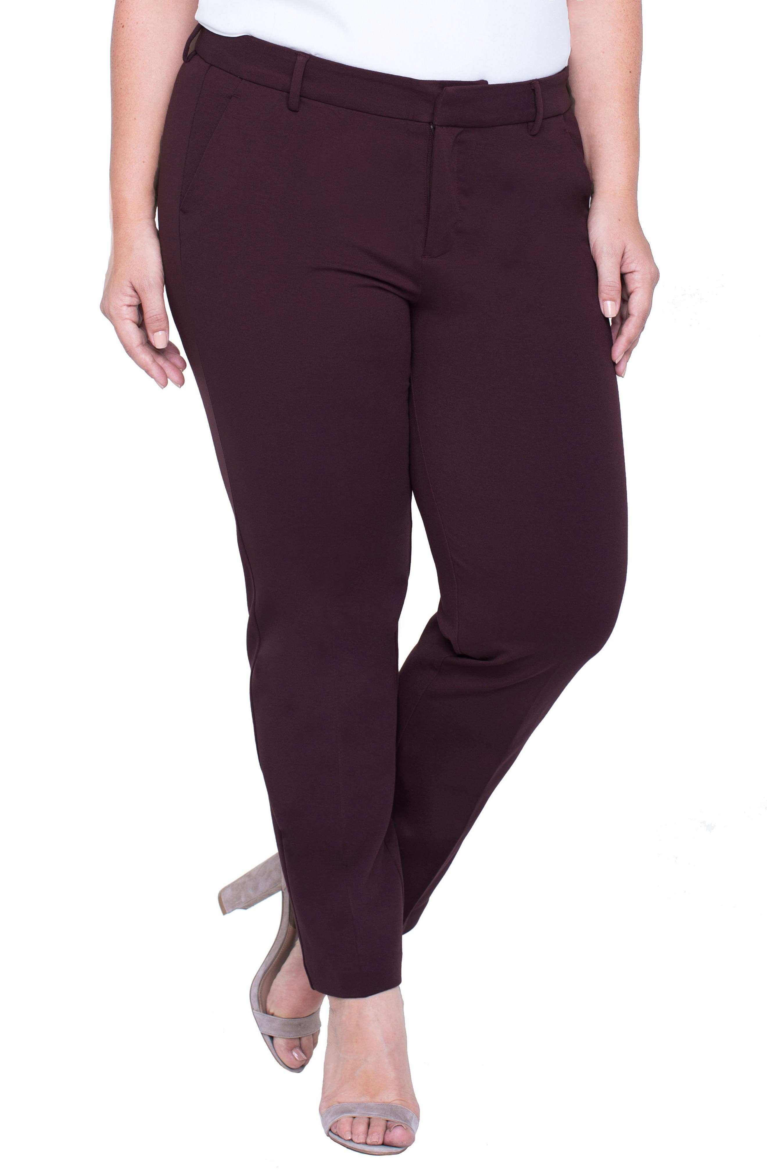 Alternate Image 3  - Liverpool Jeans Company Kelsey Ponte Knit Trousers (Plus Size)