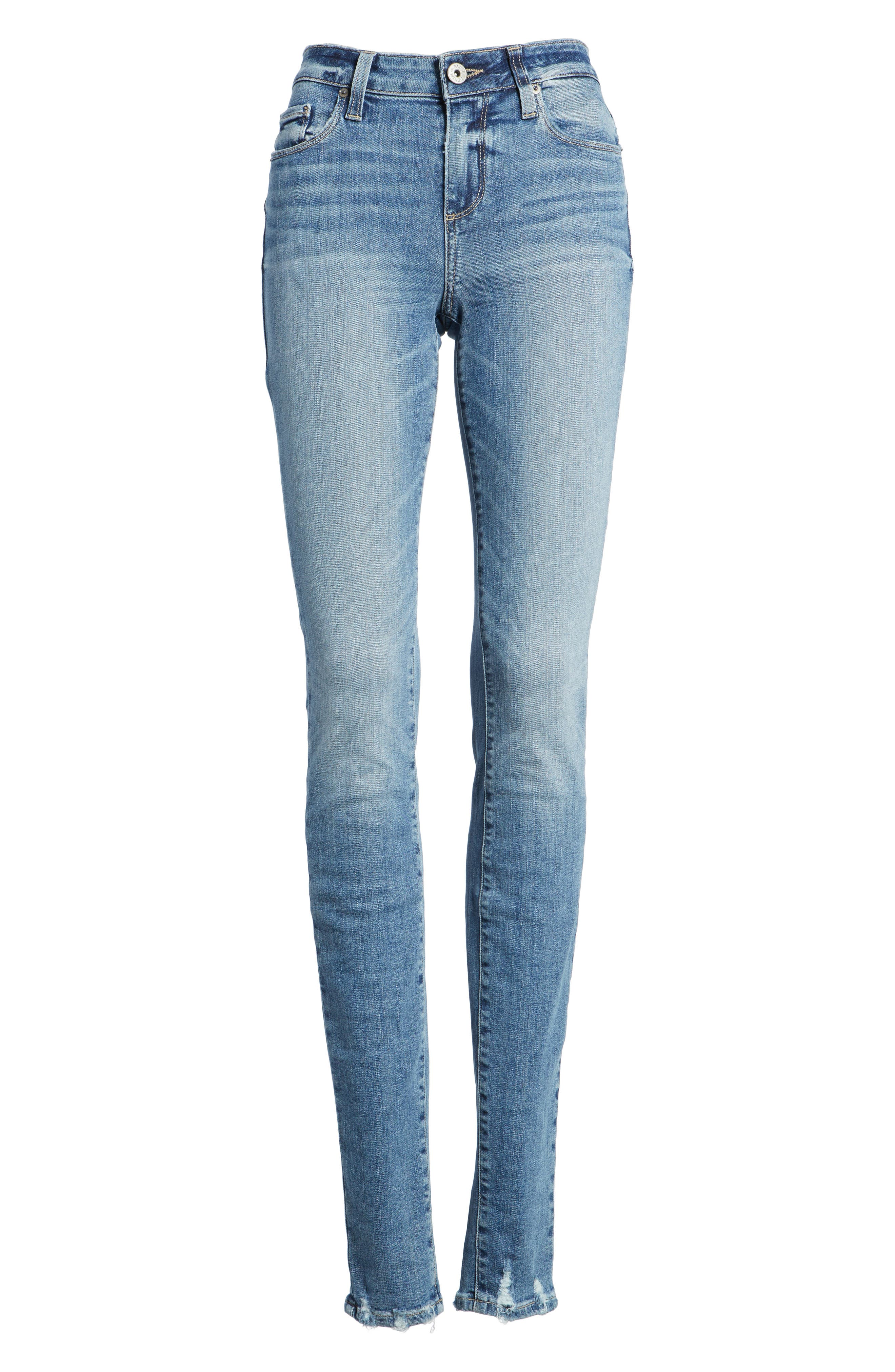 Transcend Vintage - Leggy Ultra Skinny Jeans,                             Alternate thumbnail 7, color,                             Rissy