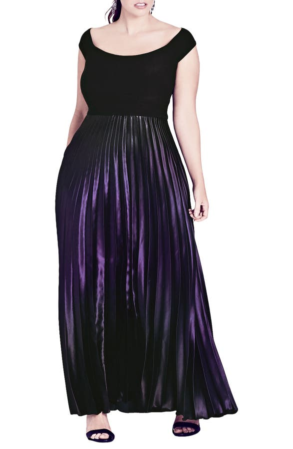 City Chic Passion Ombr Gown Plus Size Nordstrom