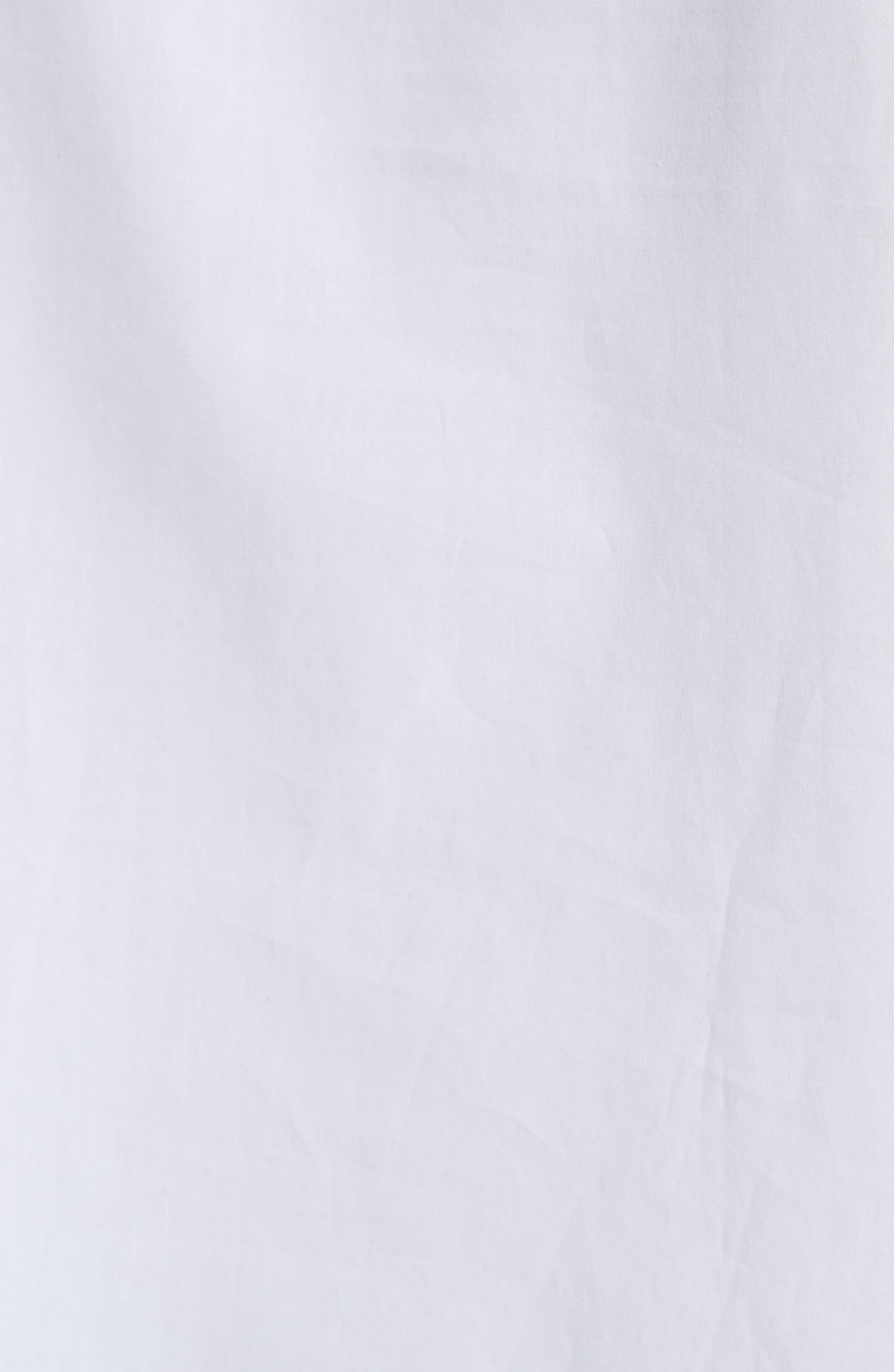 Sophie Tie Sleeve Cotton Blouse,                             Alternate thumbnail 5, color,                             White