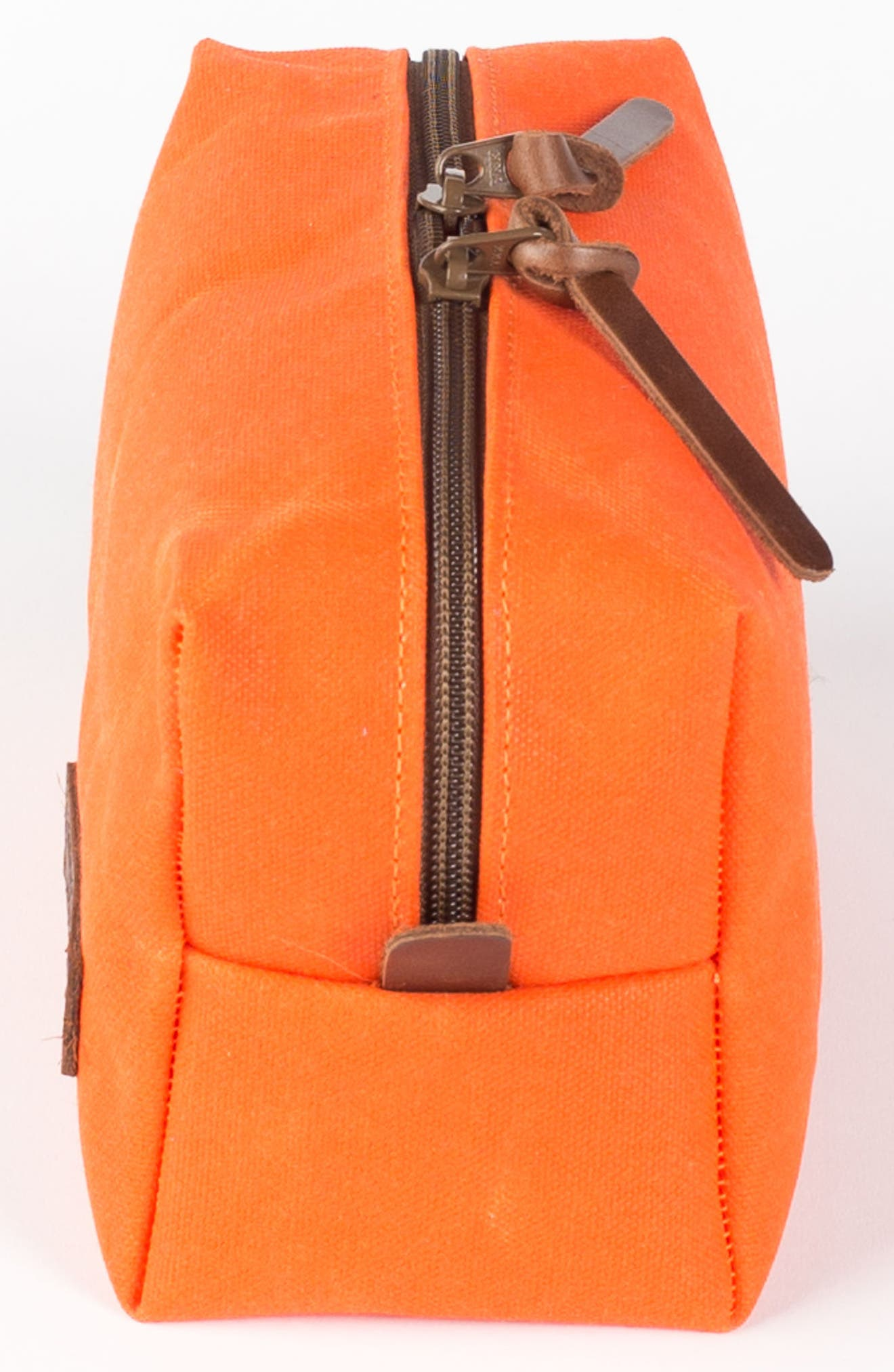 Traverse Waxed Canvas Dopp Kit,                             Alternate thumbnail 4, color,                             Orange