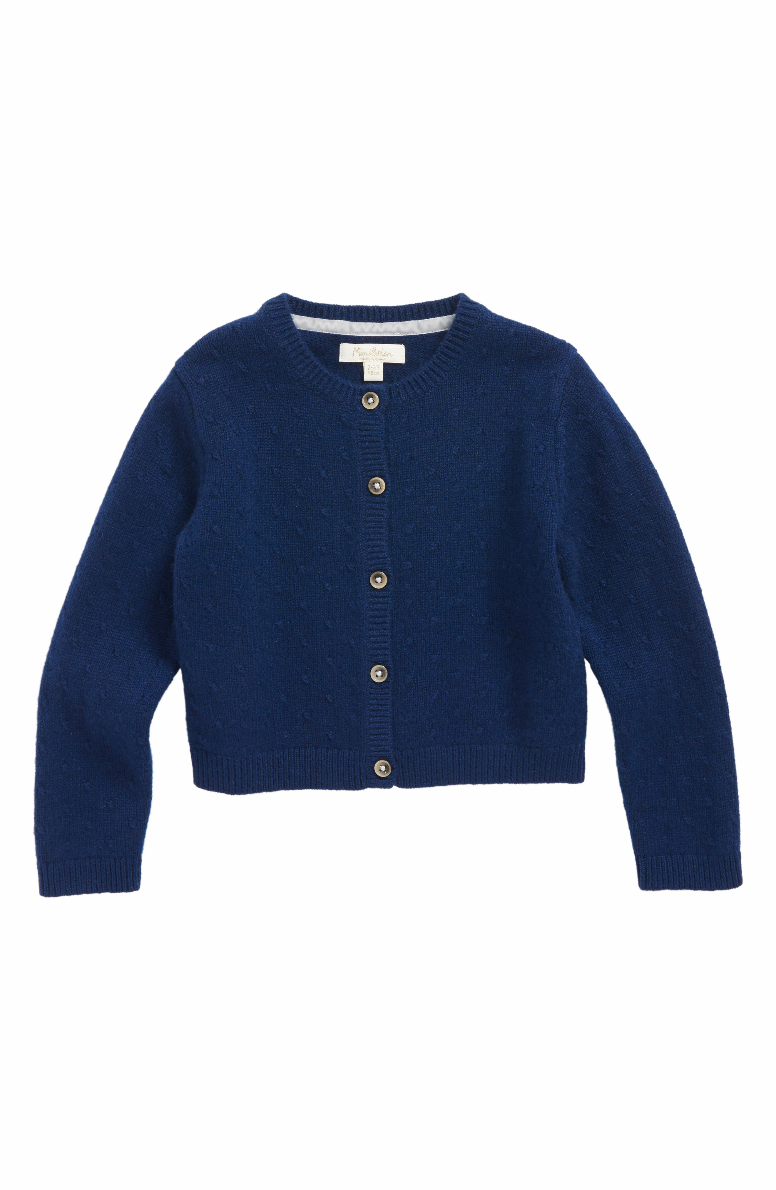 Cashmere Cardigan,                         Main,                         color, Navy