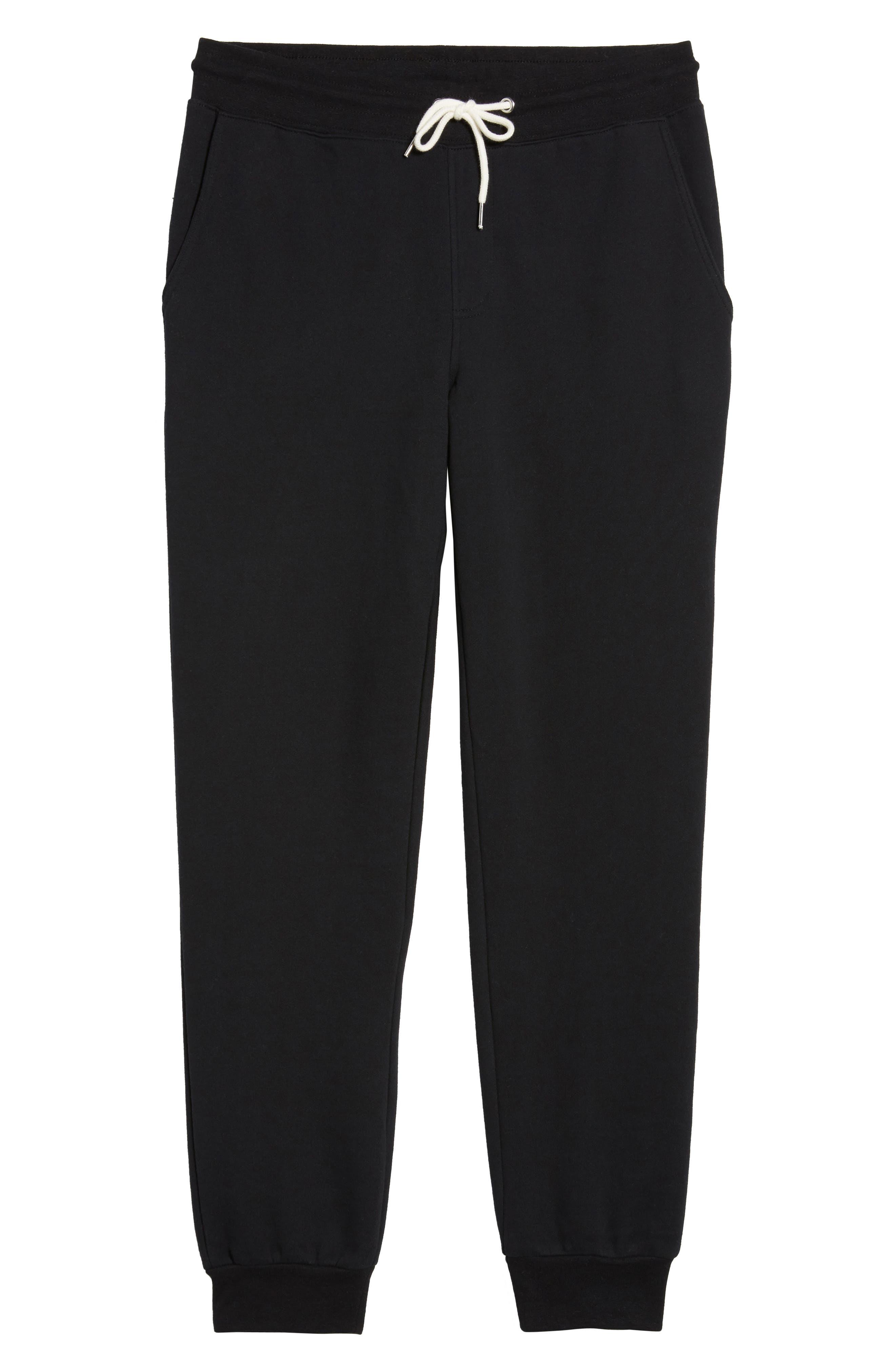 Fleece Jogger Pants,                             Alternate thumbnail 6, color,                             Black Rock