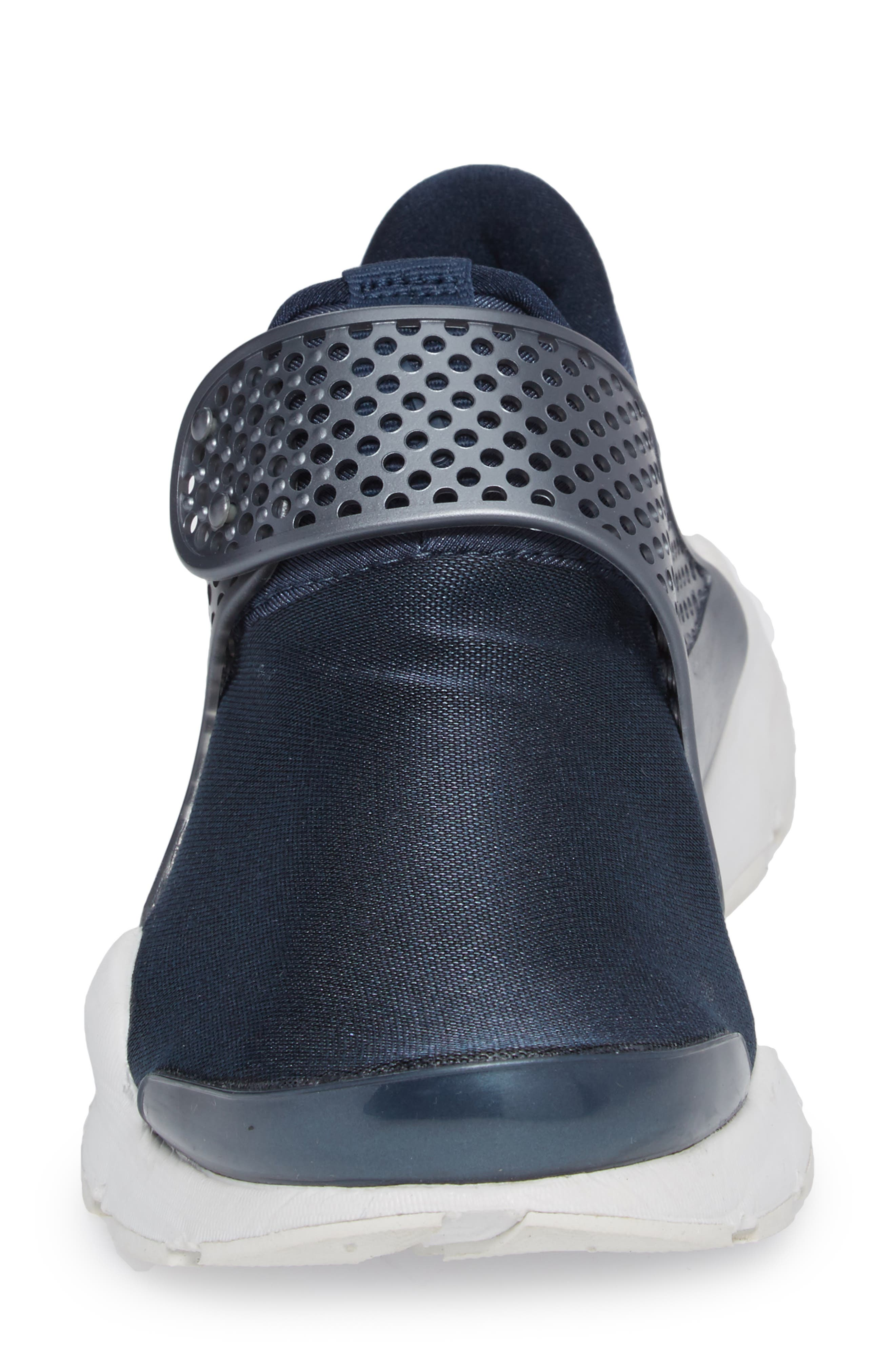 Sock Dart Sneaker,                             Alternate thumbnail 4, color,                             Metallic/ Armory Navy
