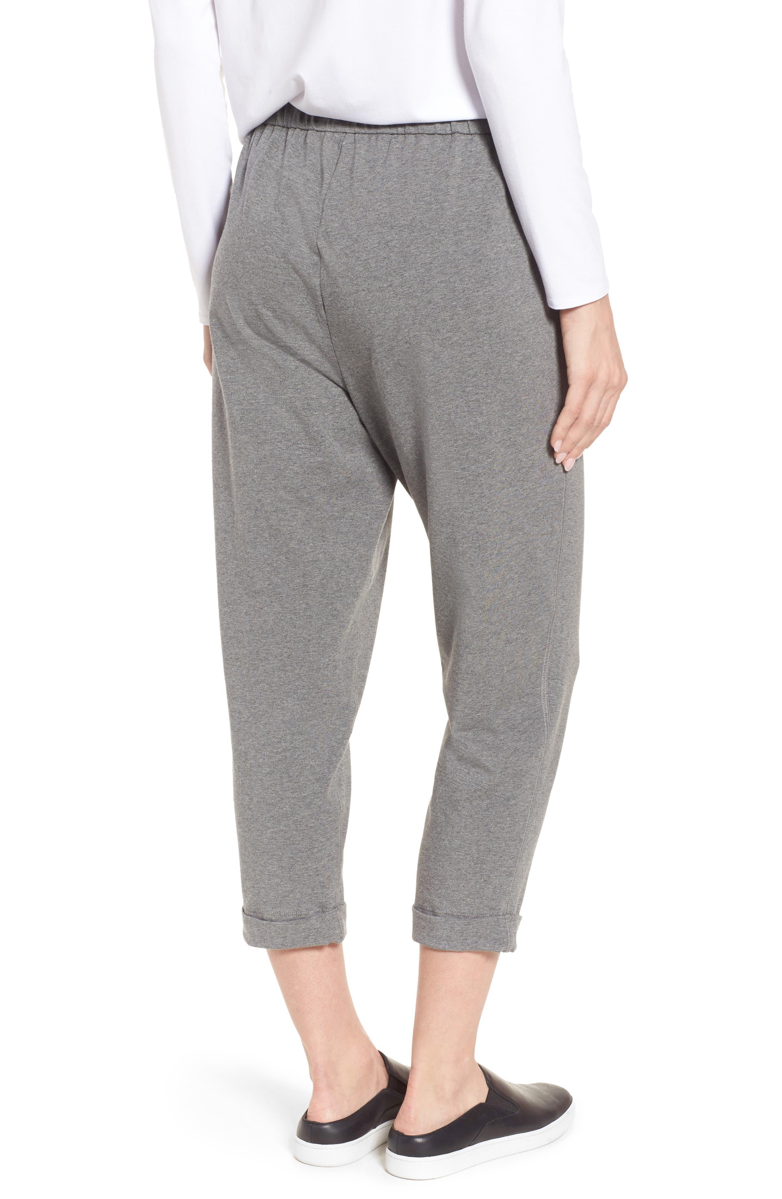 Organic Cotton Jersey Crop Pants,                             Alternate thumbnail 2, color,                             Grey