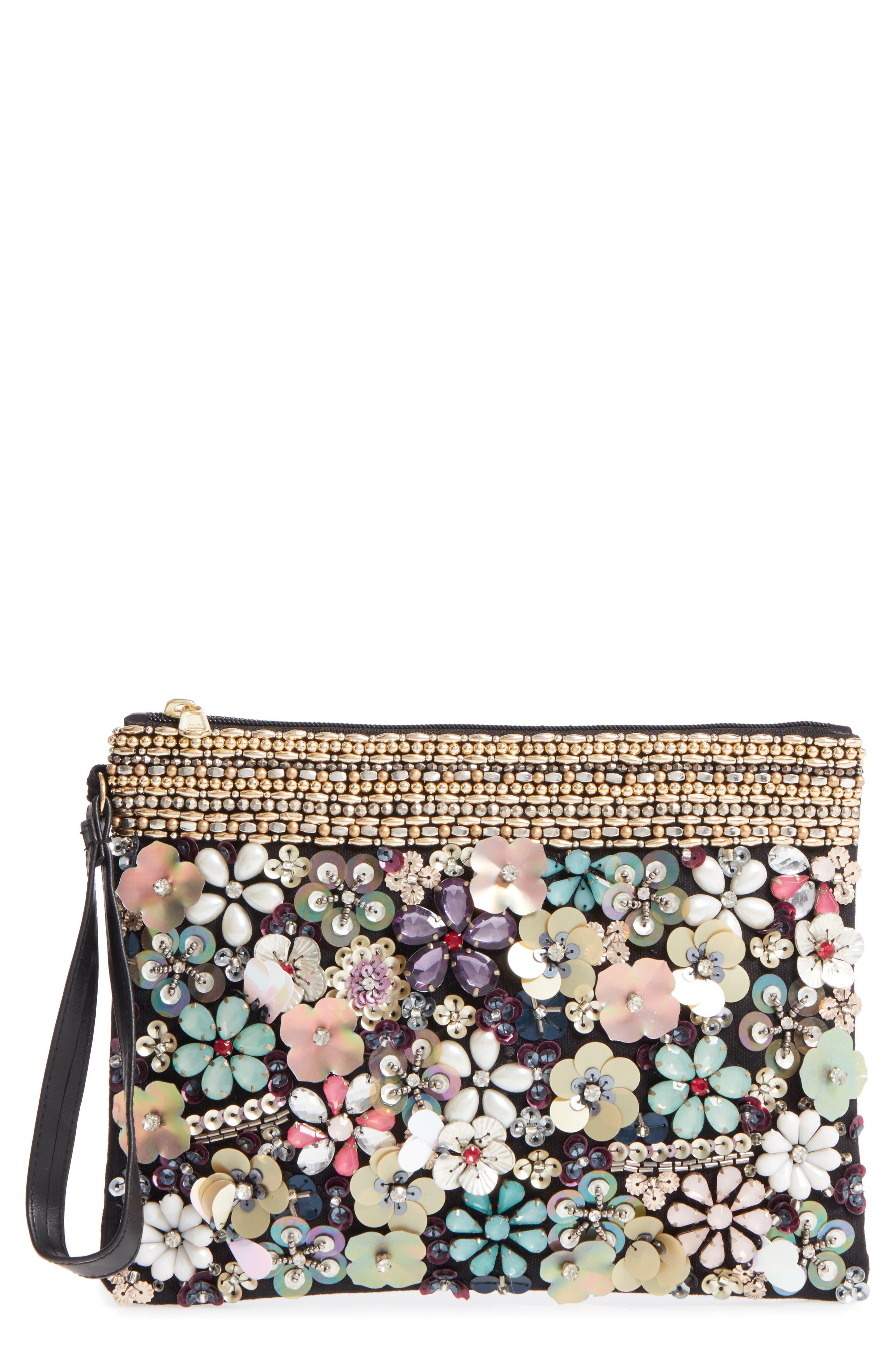 Natasha Couture Embellished Garden Clutch