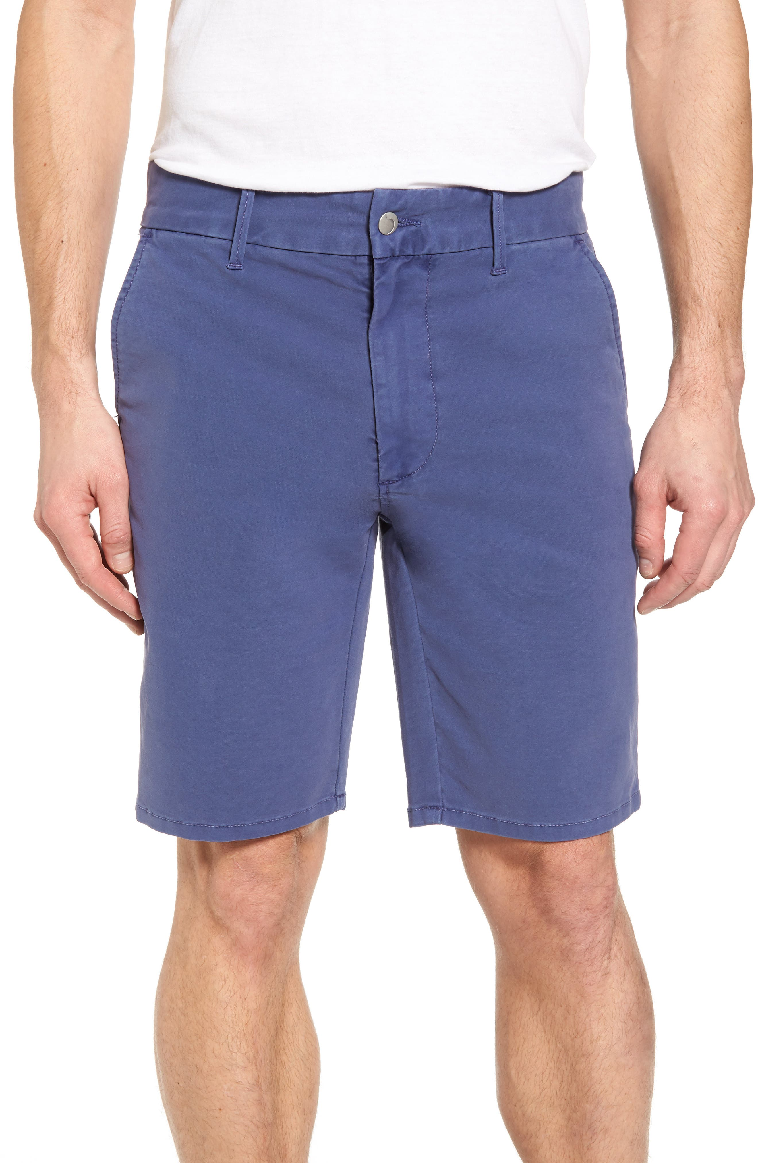 Brixton Trim Fit Straight Leg Shorts,                         Main,                         color, Marina Blue