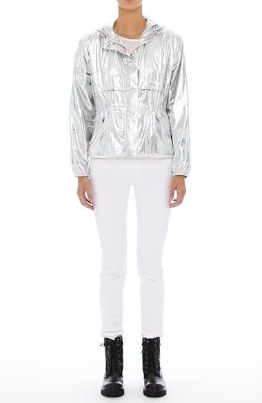 Alternate Image 6  - Moncler Jais Metallic Hooded Raincoat