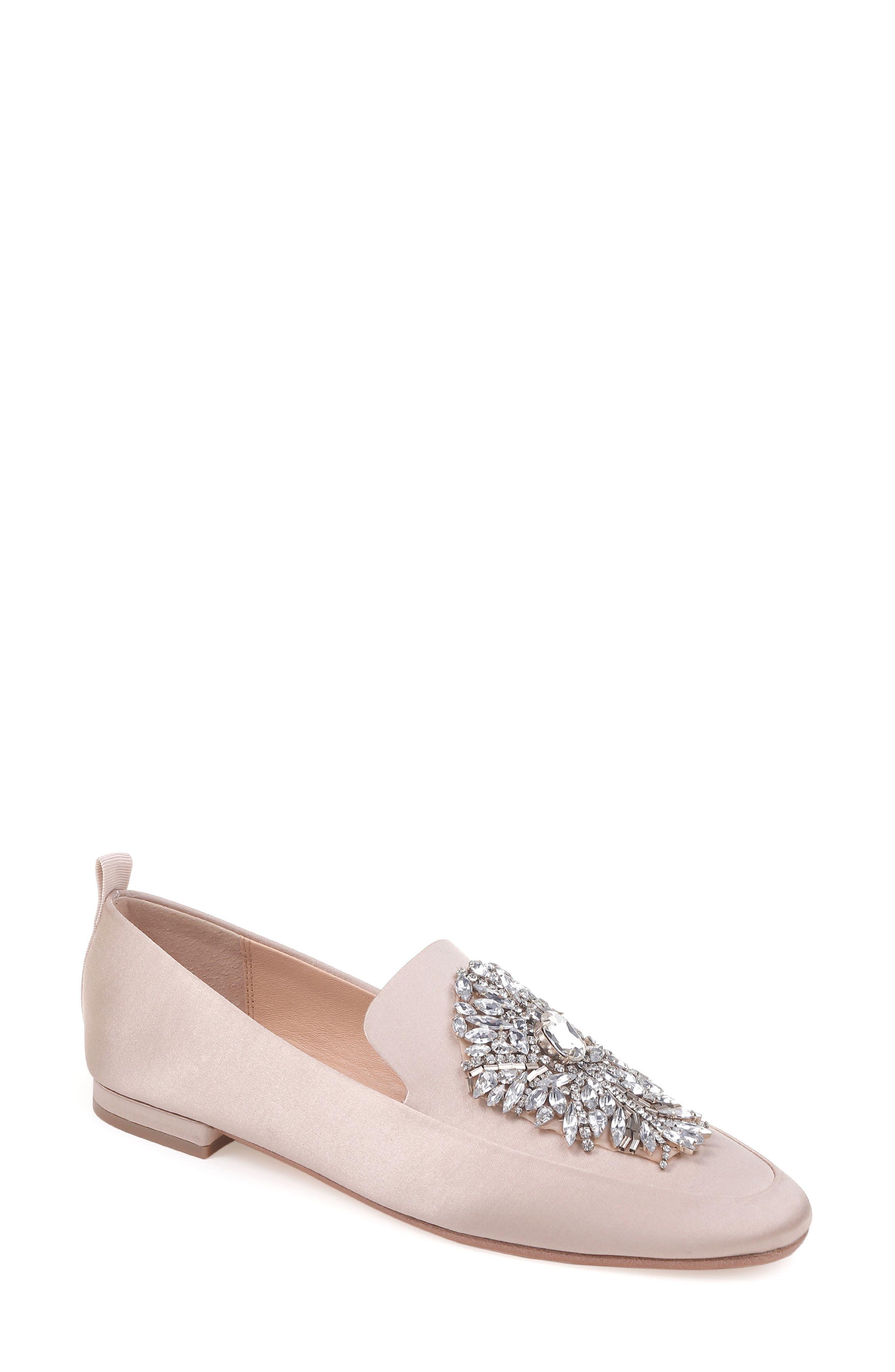 Badgley Mischka Salma Crystal Embellished Loafer (Women)