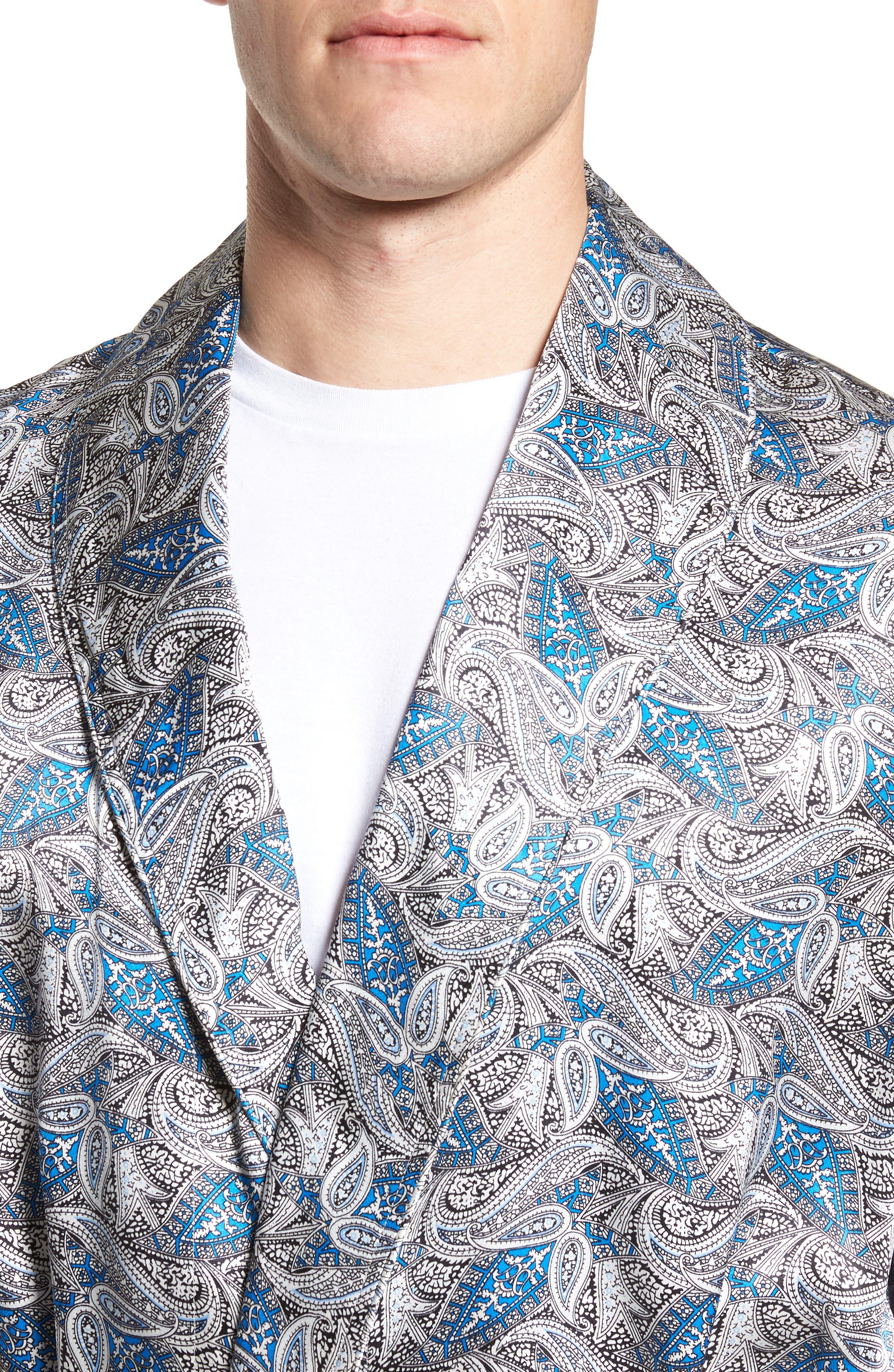 Alternate Image 4  - Majestic International 'Cypress' Silk Dot Robe