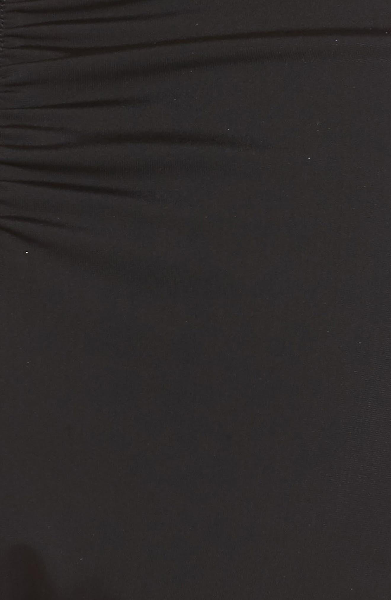 Tropicana Knotted Bikini Bottoms,                             Alternate thumbnail 5, color,                             Black