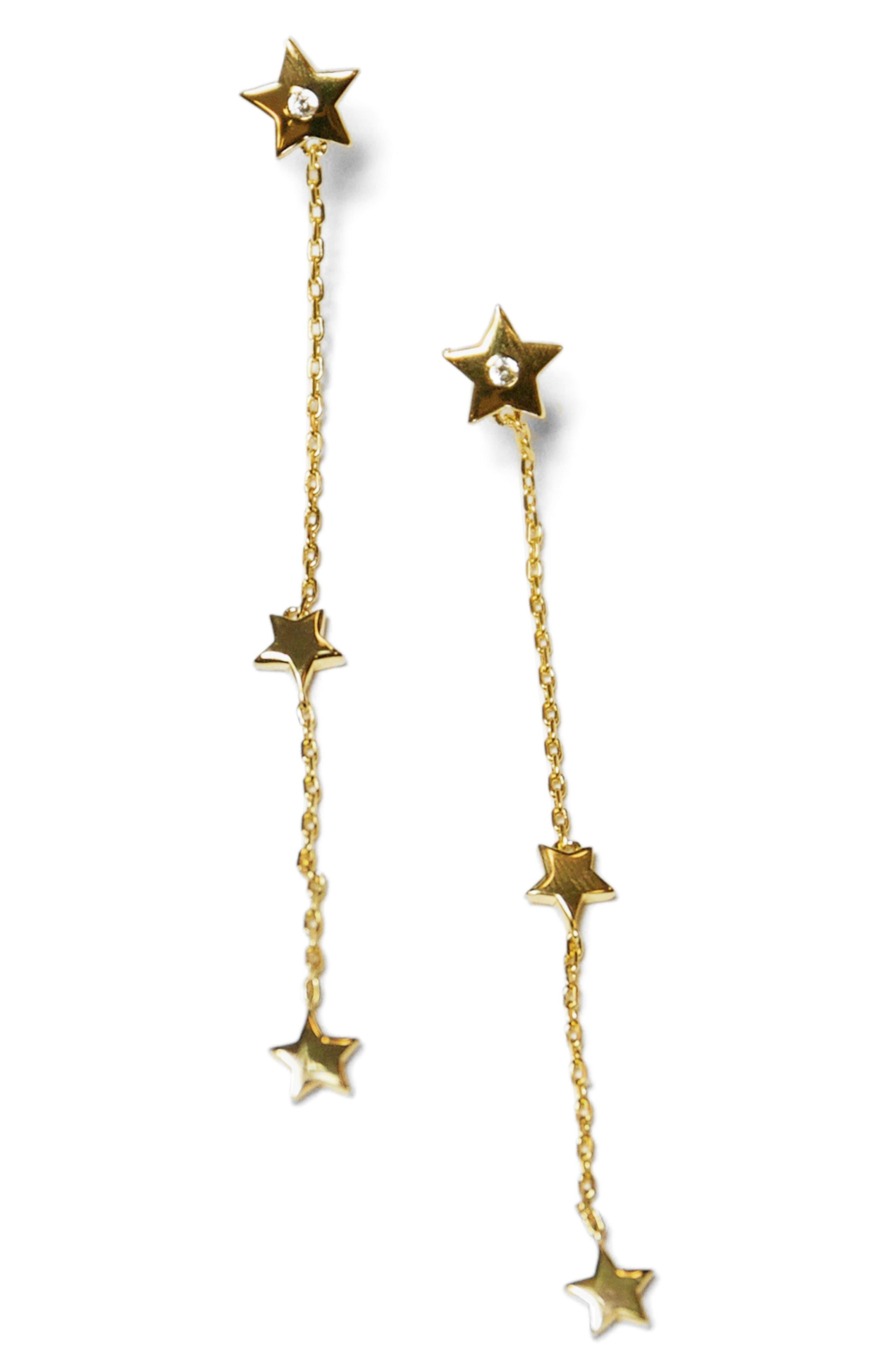 Star Drop Earrings,                             Main thumbnail 1, color,                             Gold