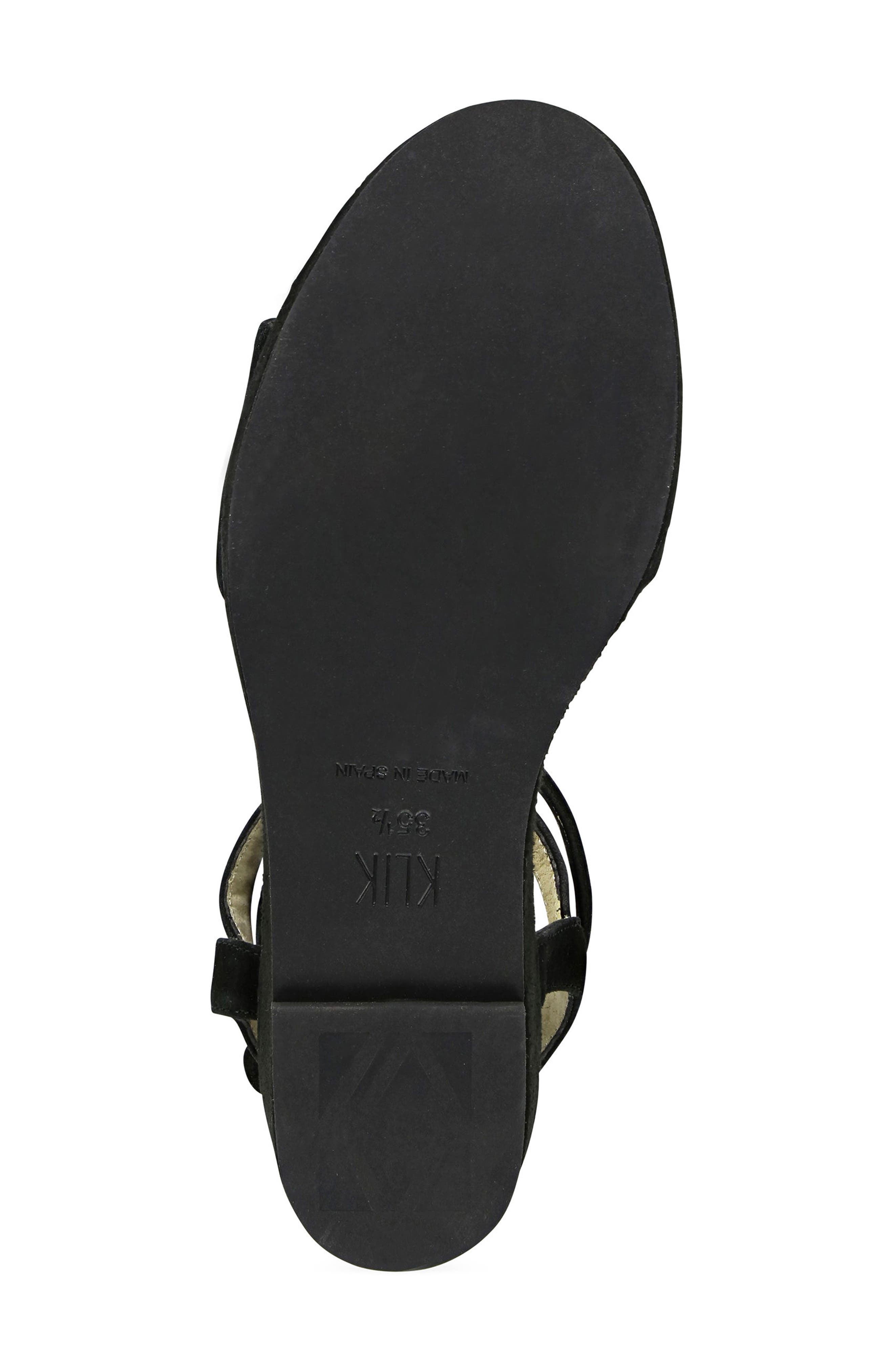 Sashi Platform Sandal,                             Alternate thumbnail 6, color,                             Black Suede