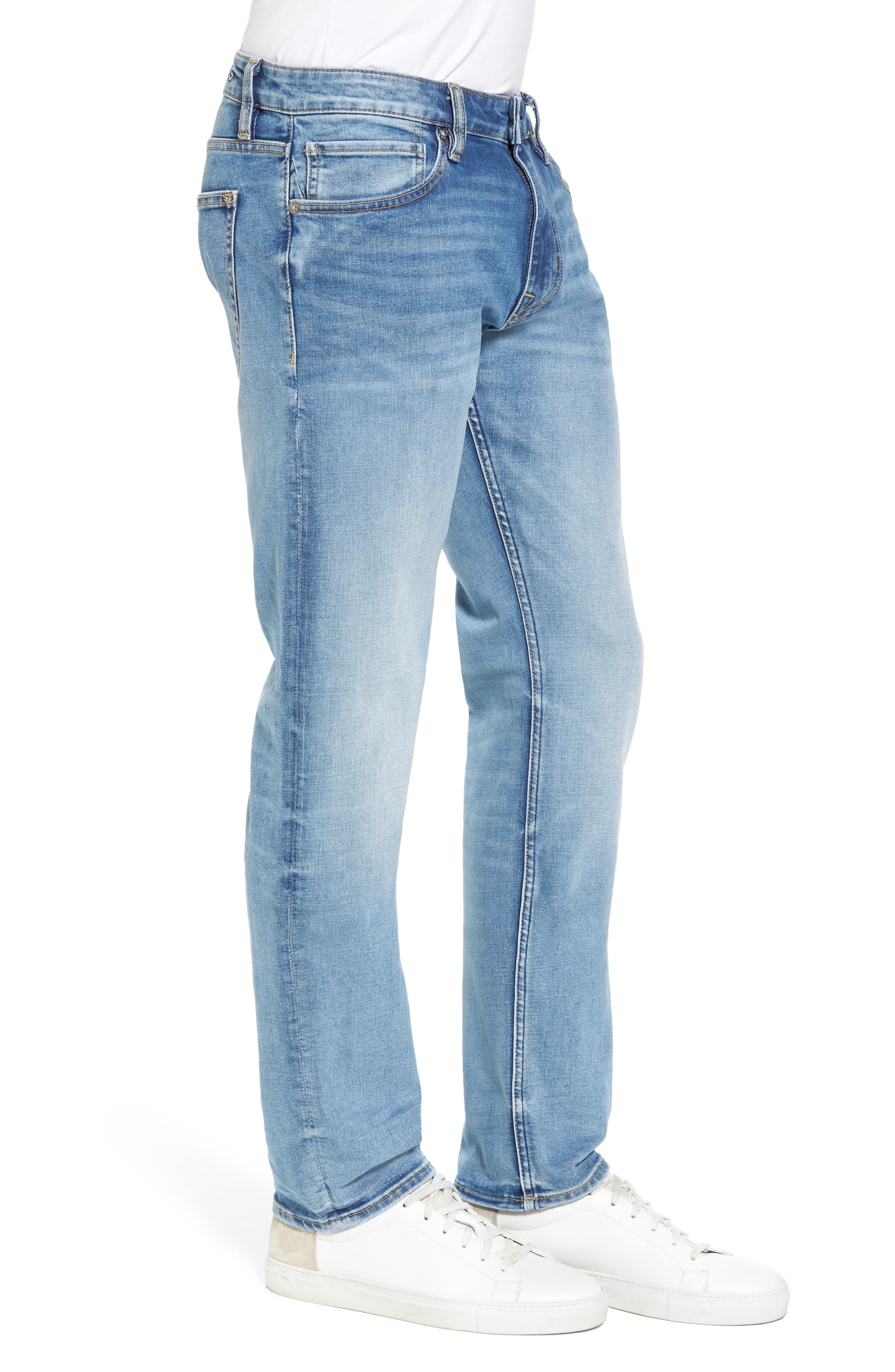 Alternate Image 3  - Vigoss Slim Straight Leg Jeans (Light Wash)