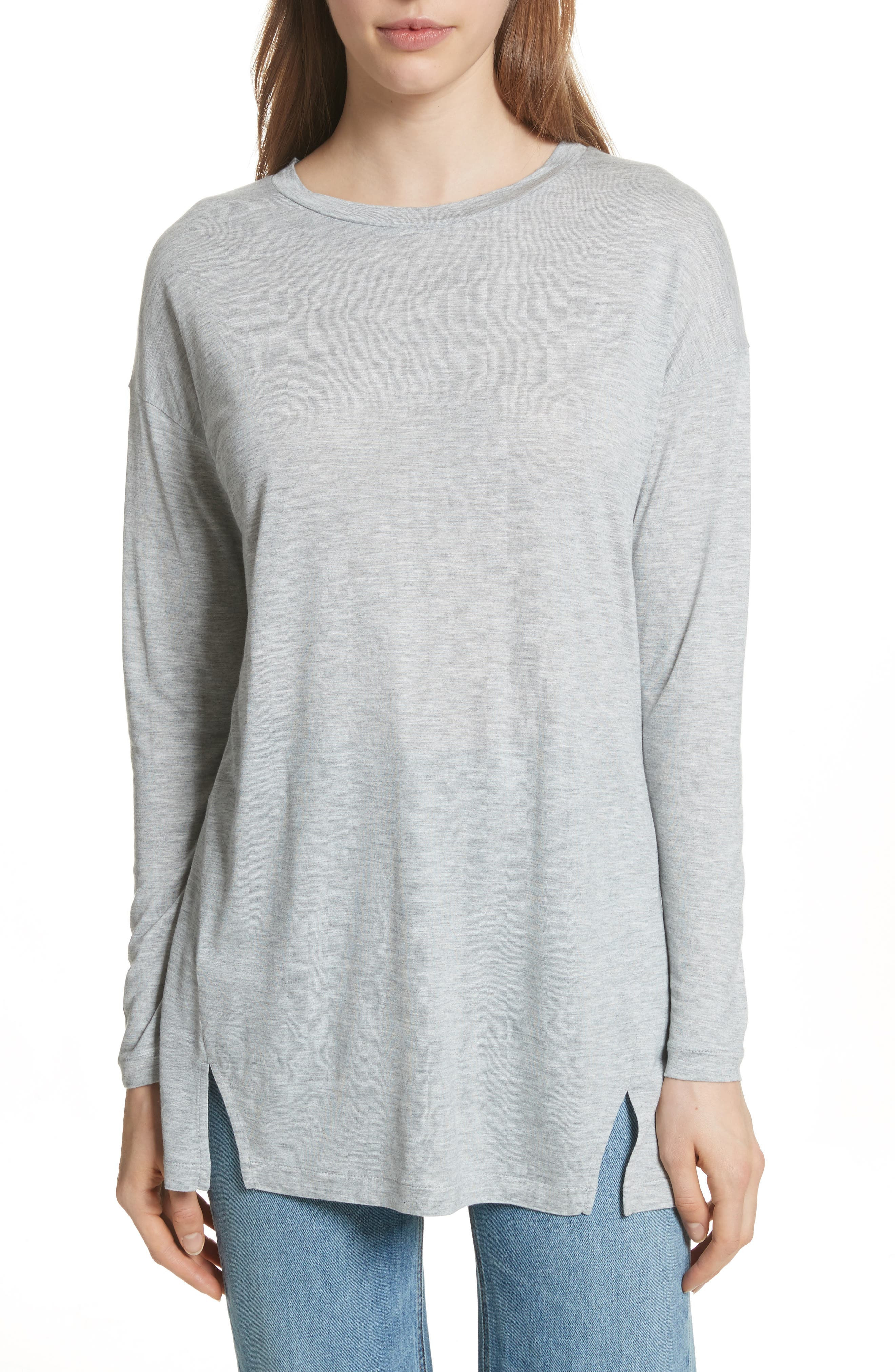 Drapey Tunic,                         Main,                         color, H Grey