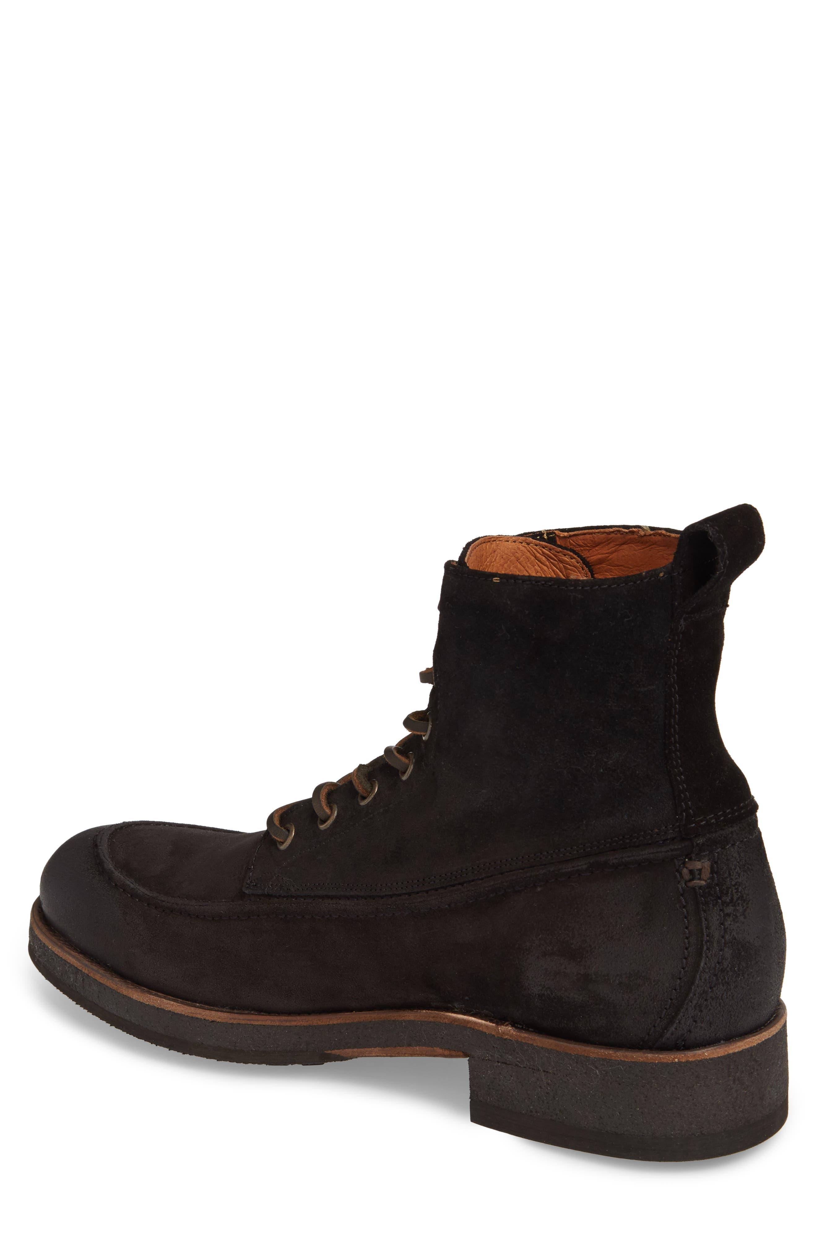 Rainier Waxed Work Boot,                             Alternate thumbnail 2, color,                             Black Waxed Suede