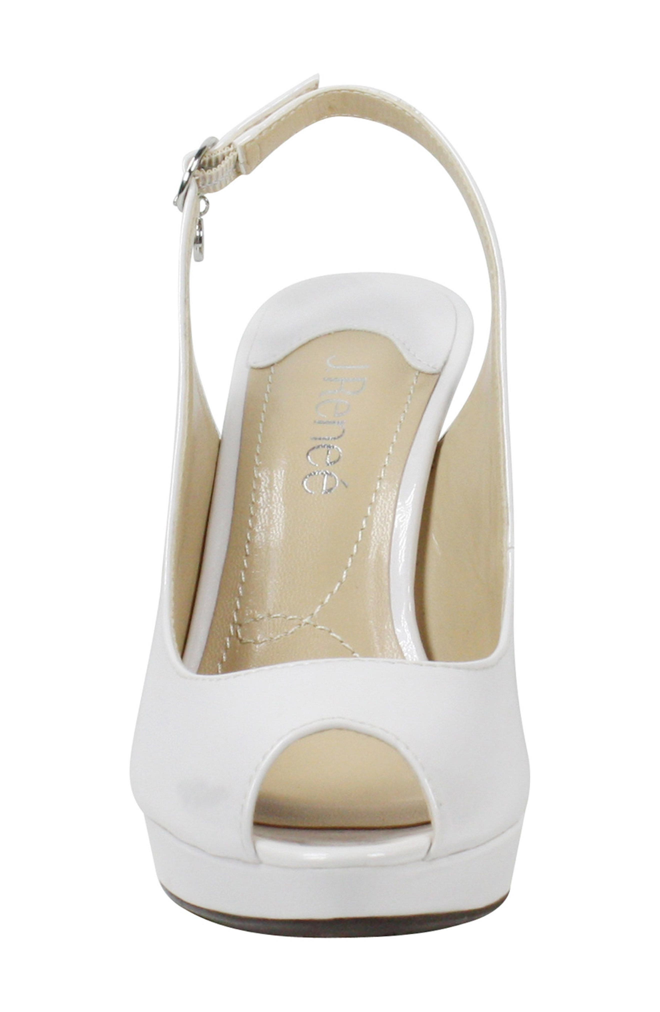 Onille Slingback Pump,                             Alternate thumbnail 4, color,                             Pearl White Faux Leather