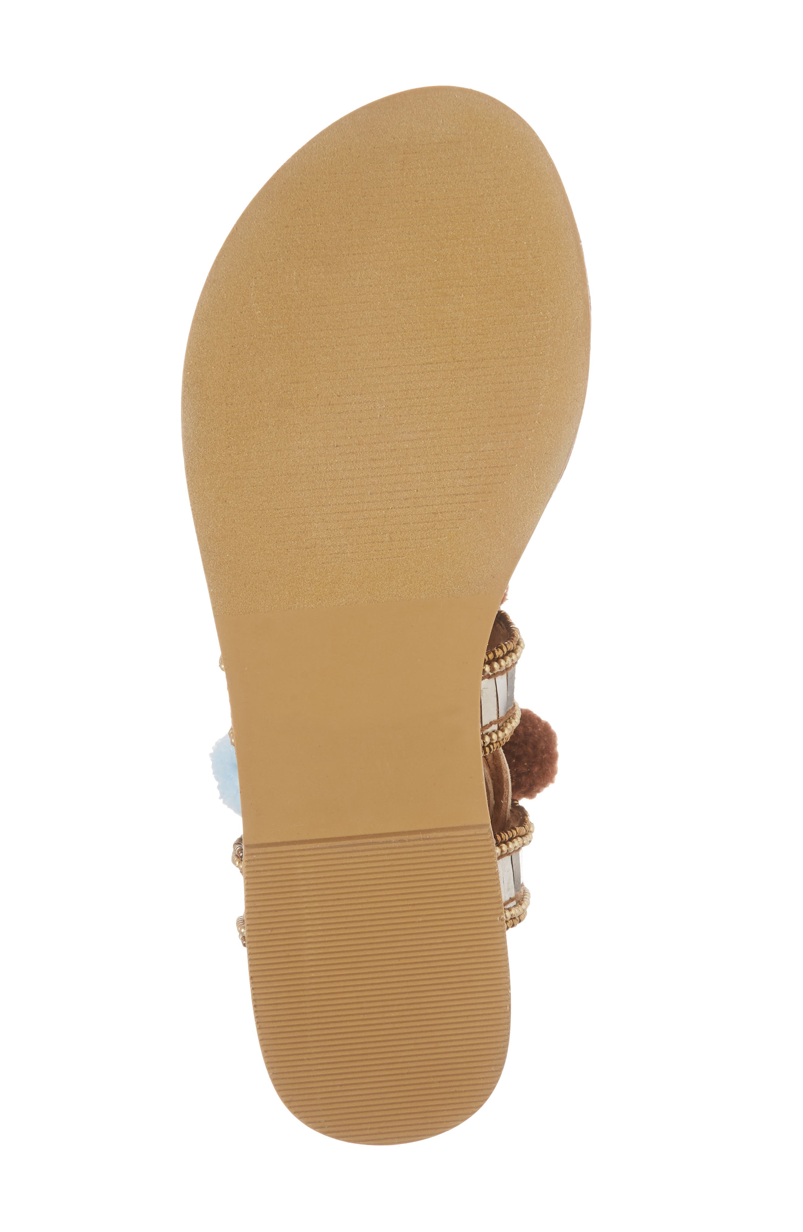Bassie Ankle Strap Sandal,                             Alternate thumbnail 6, color,                             Brown Multi Faux Suede