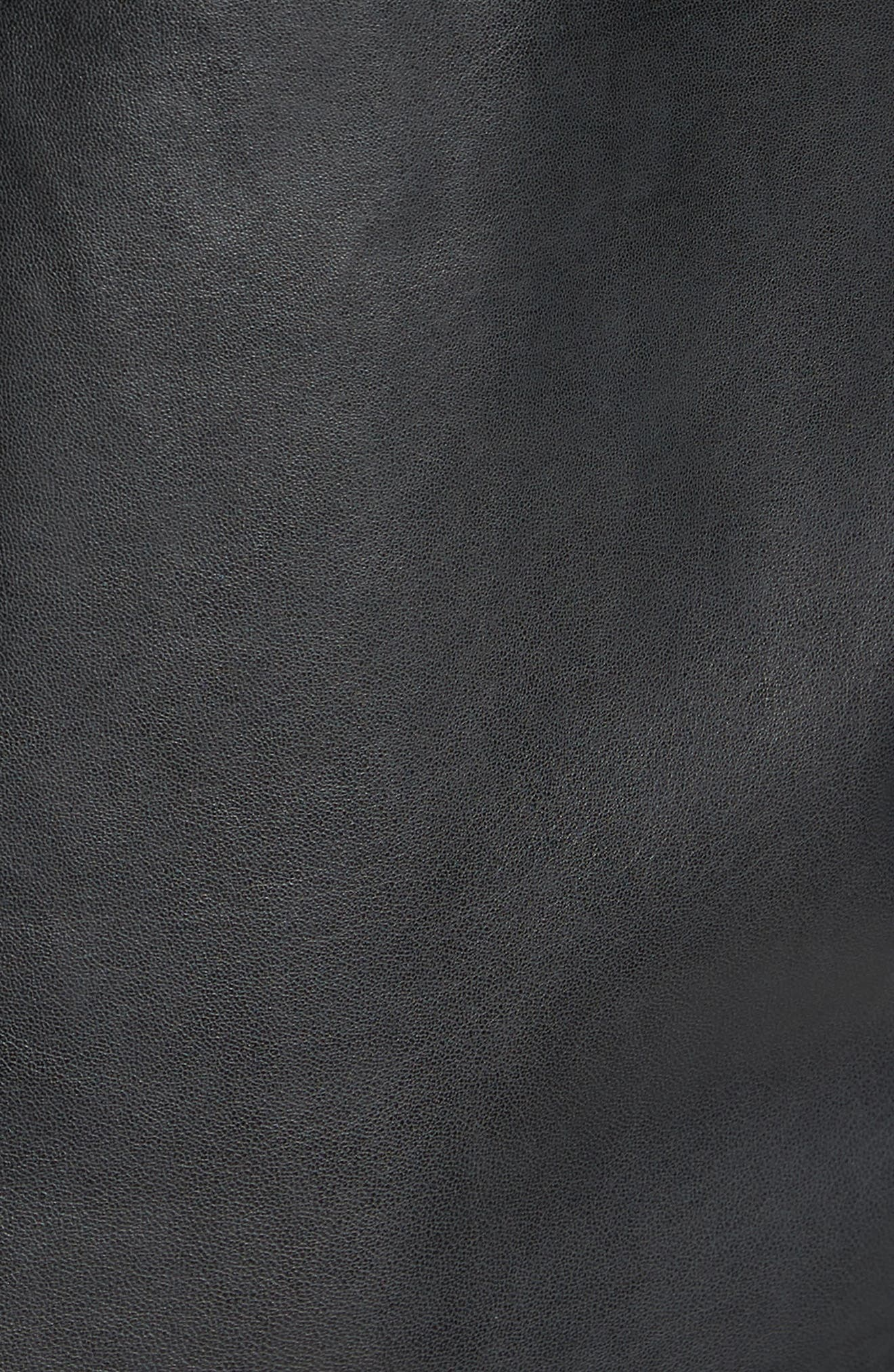Vintage Leather Sport Coat,                             Alternate thumbnail 5, color,                             Black