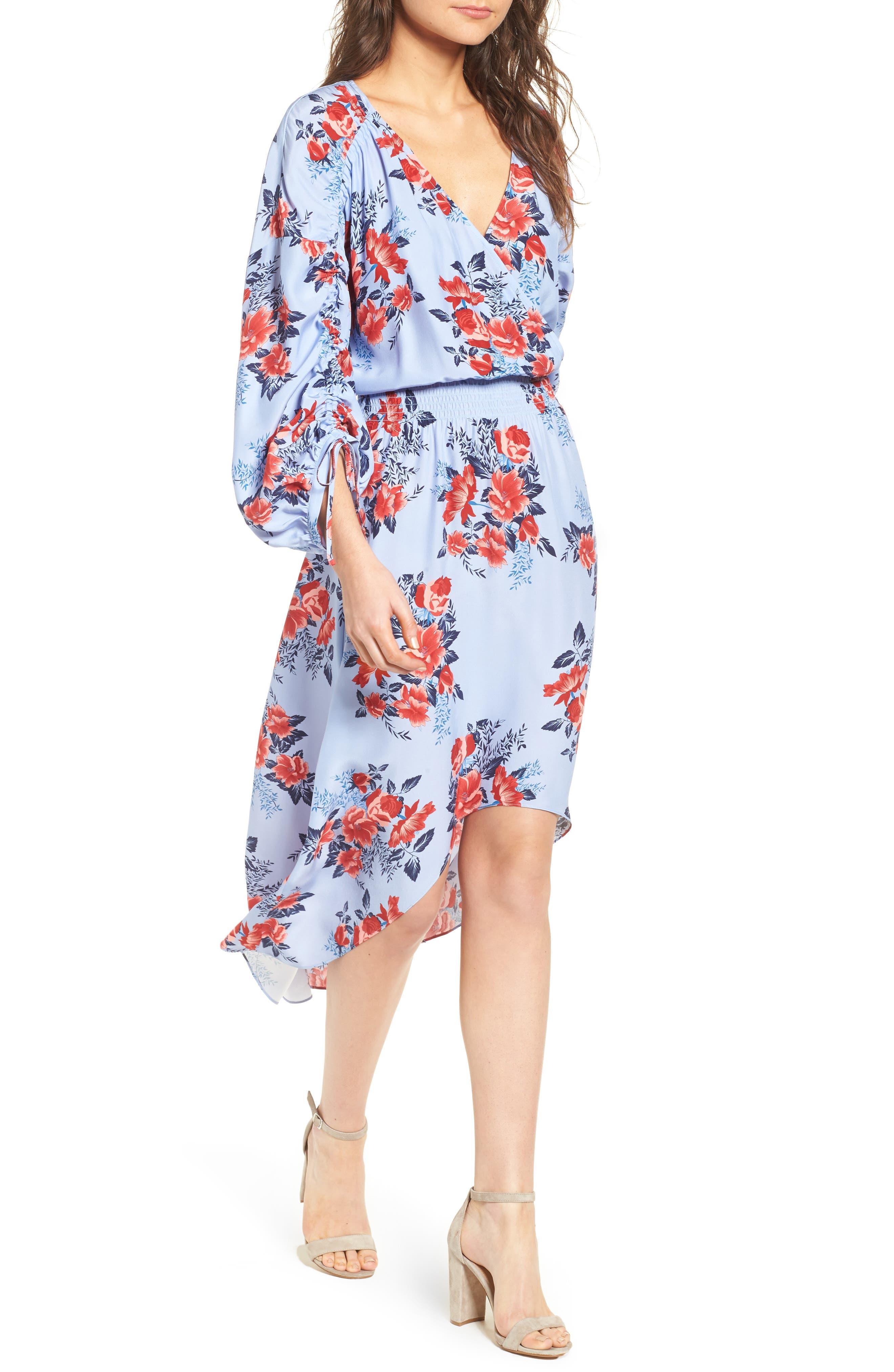 Xiomara Silk Dress,                         Main,                         color, Lilac Blossom