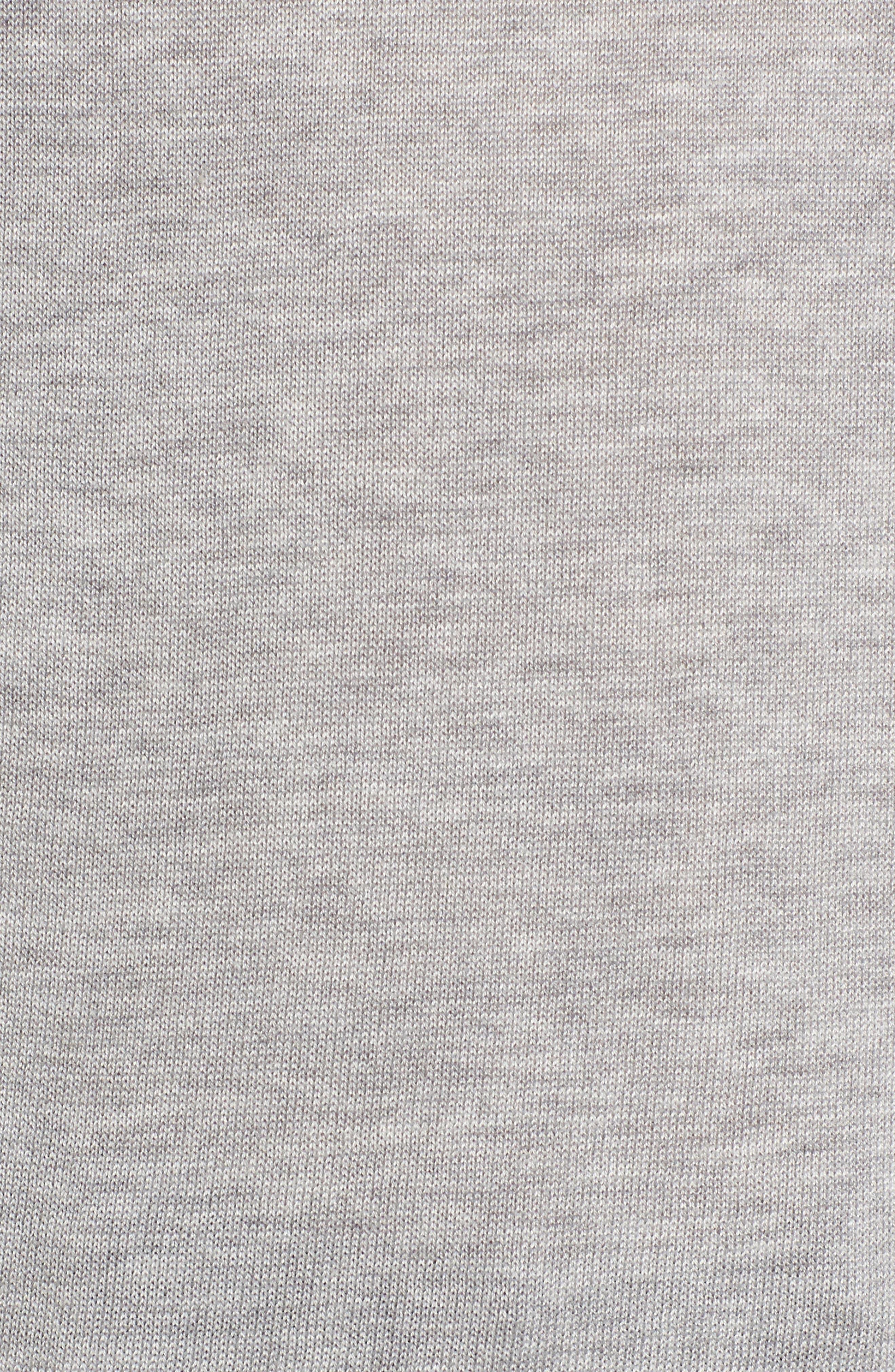 Ruffle Sleeve Sweater,                             Alternate thumbnail 5, color,                             Grey Heather