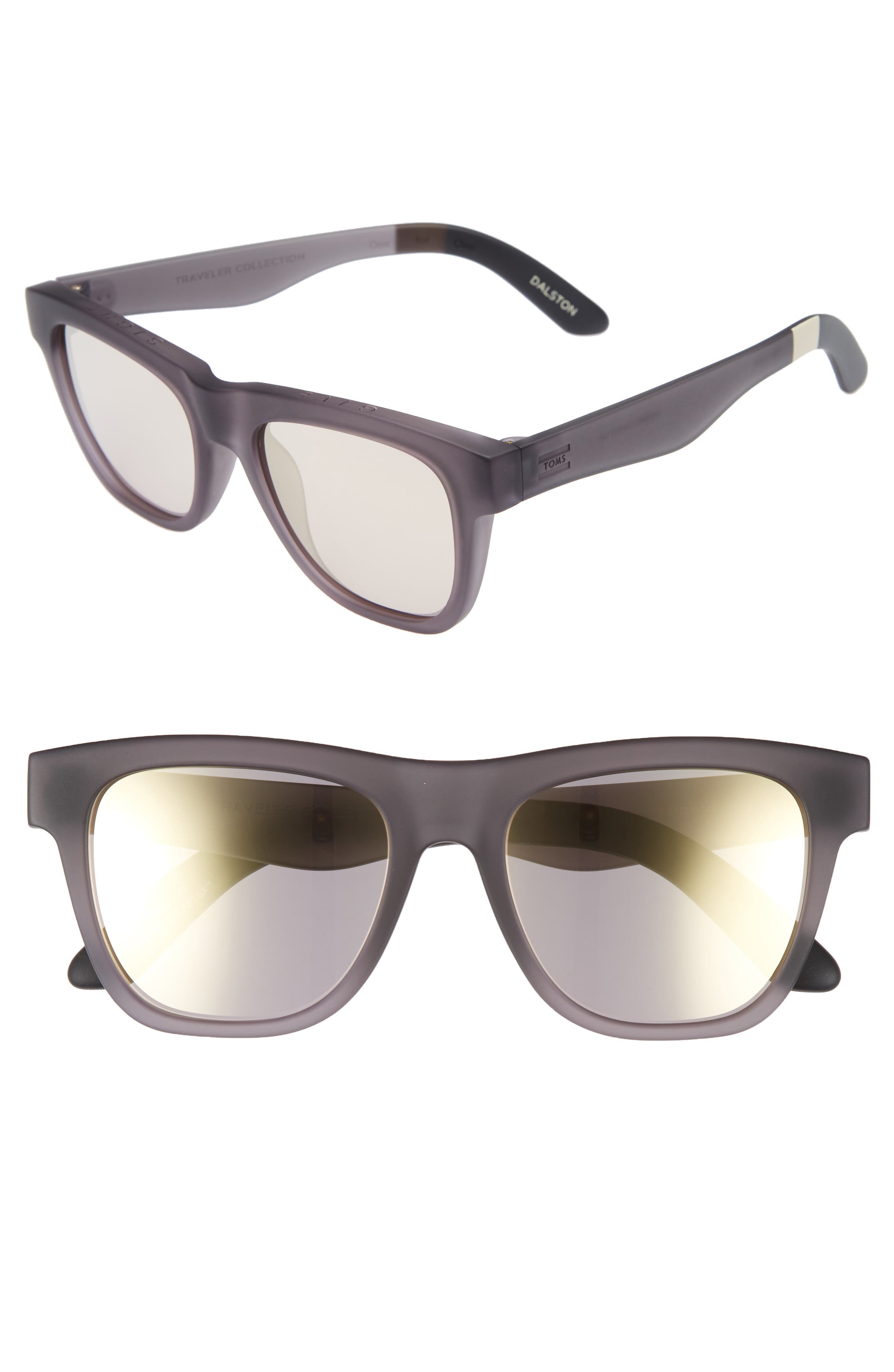 Dalston 54mm Sunglasses,                             Main thumbnail 1, color,                             Pewter