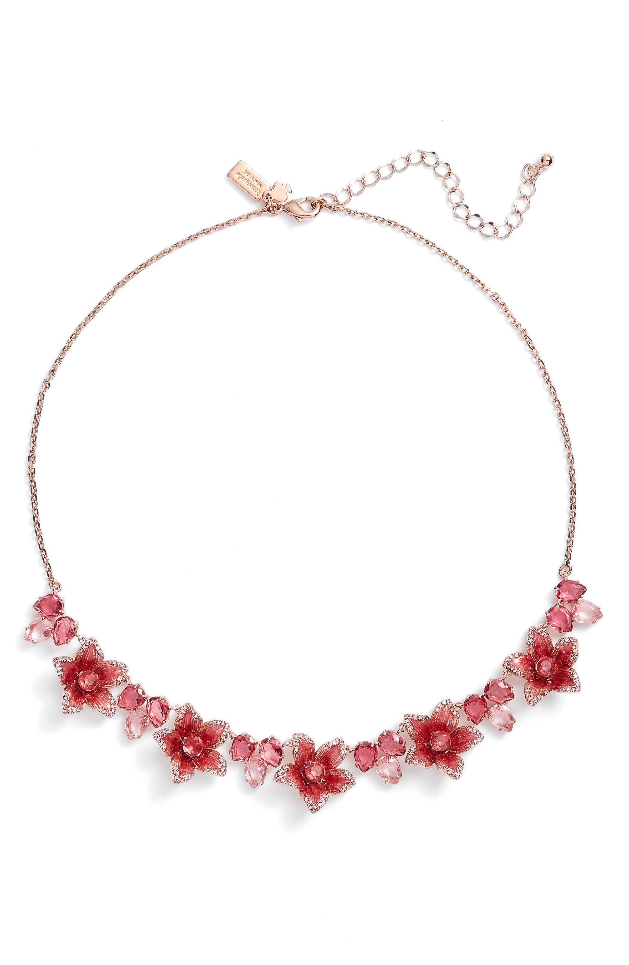 winter garden necklace,                             Main thumbnail 1, color,                             Pink Multi