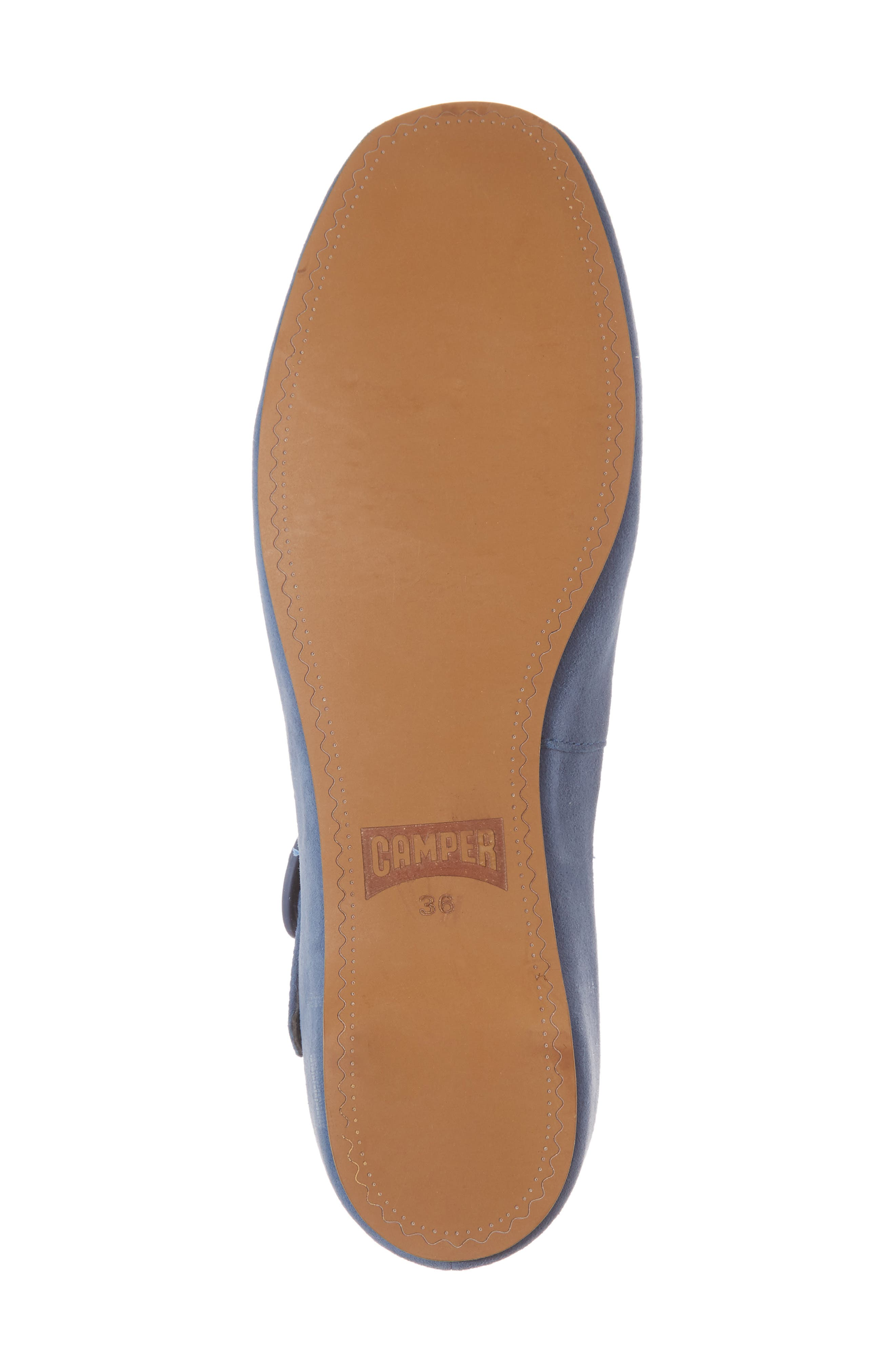 Serena Mary Jane Flat,                             Alternate thumbnail 6, color,                             Bright Blue Suede