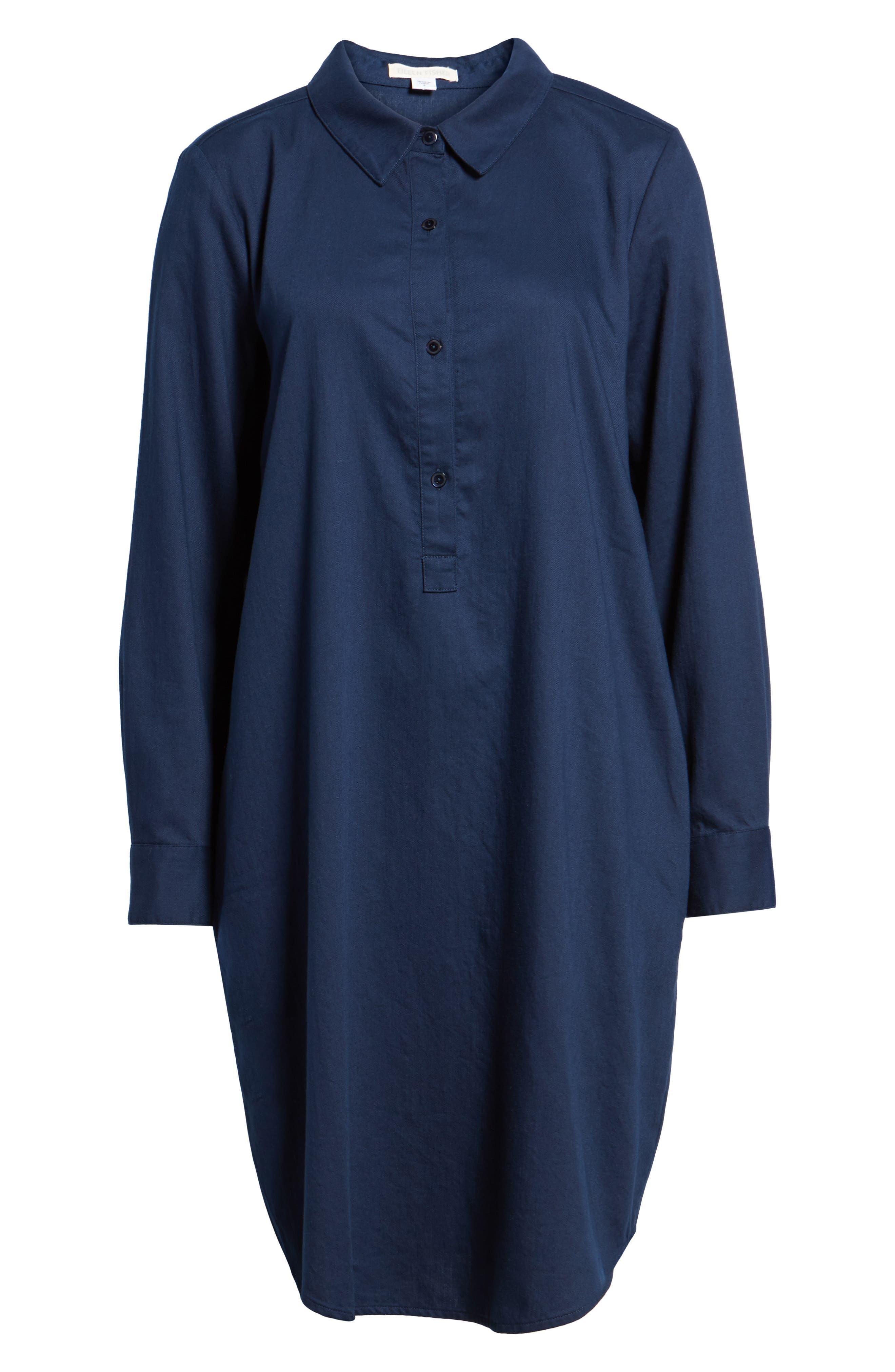 Alternate Image 6  - Eileen Fisher Cotton Twill Shirtdress