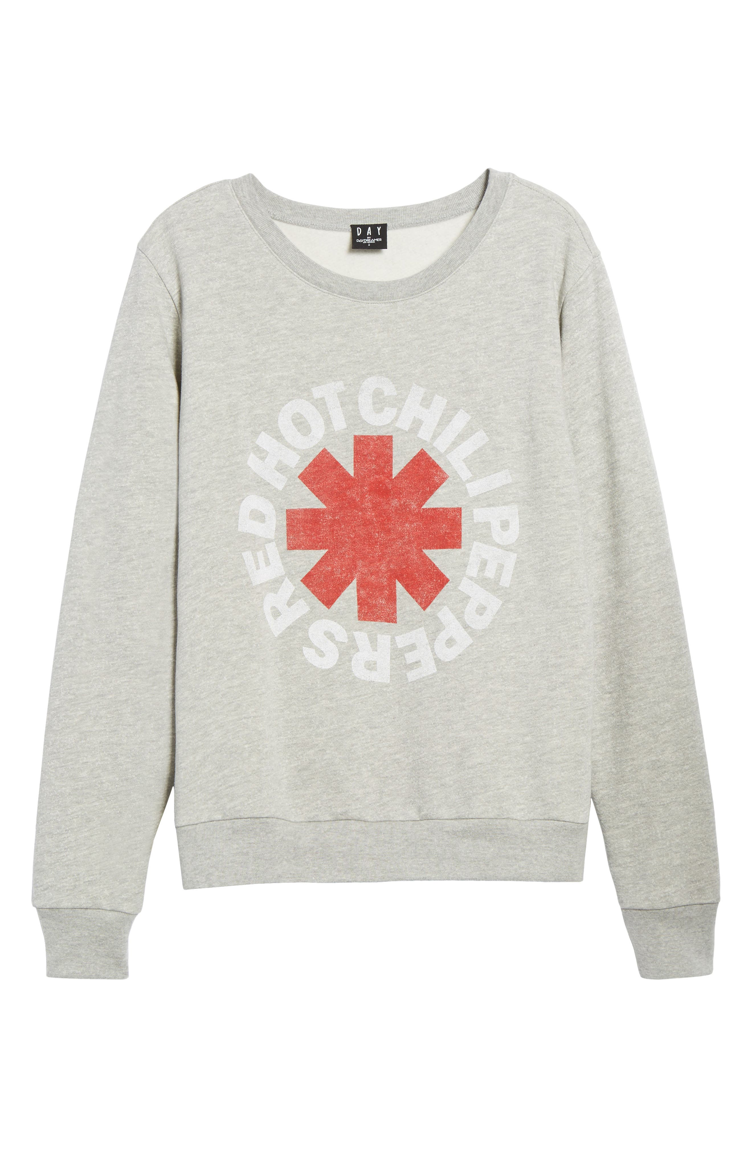 Red Hot Chili Peppers Sweatshirt,                             Alternate thumbnail 6, color,                             Heather Grey