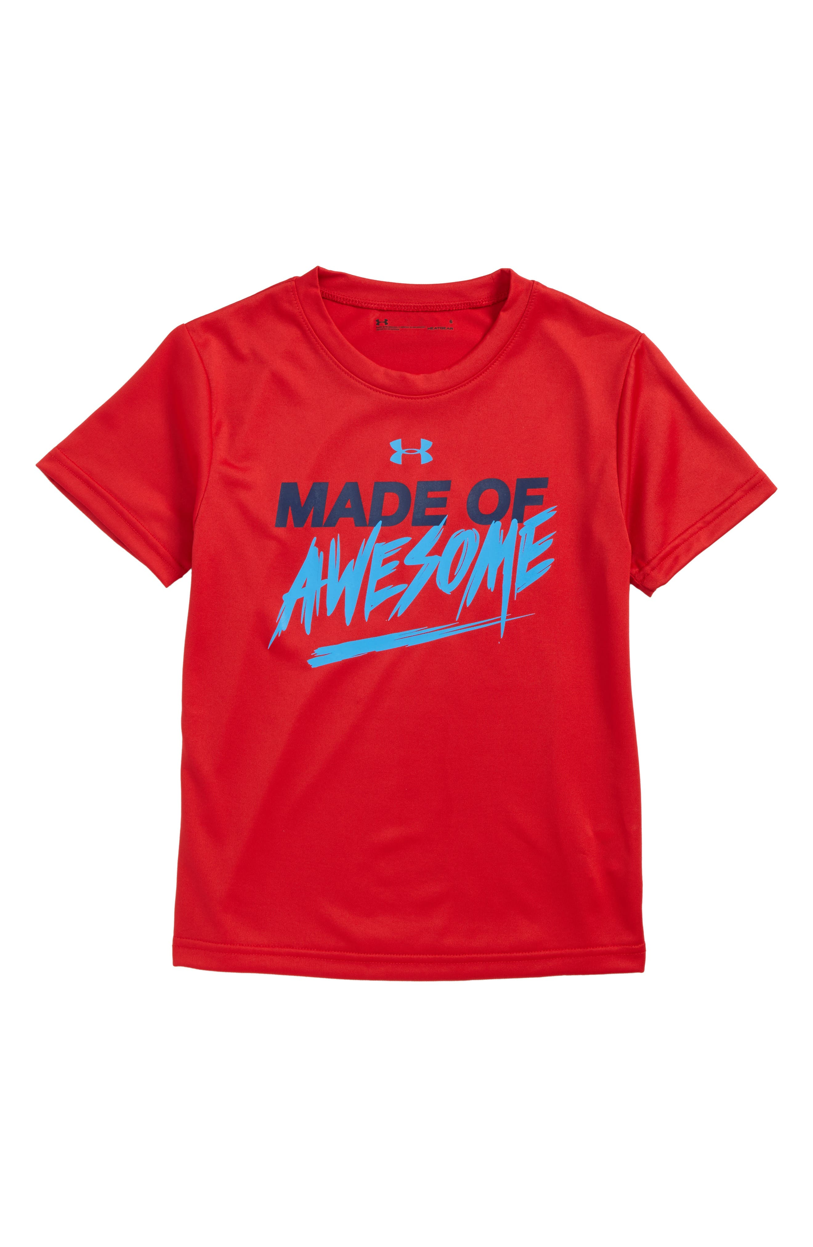 Made of Awesome HeatGear<sup>®</sup> T-Shirt,                         Main,                         color, Red
