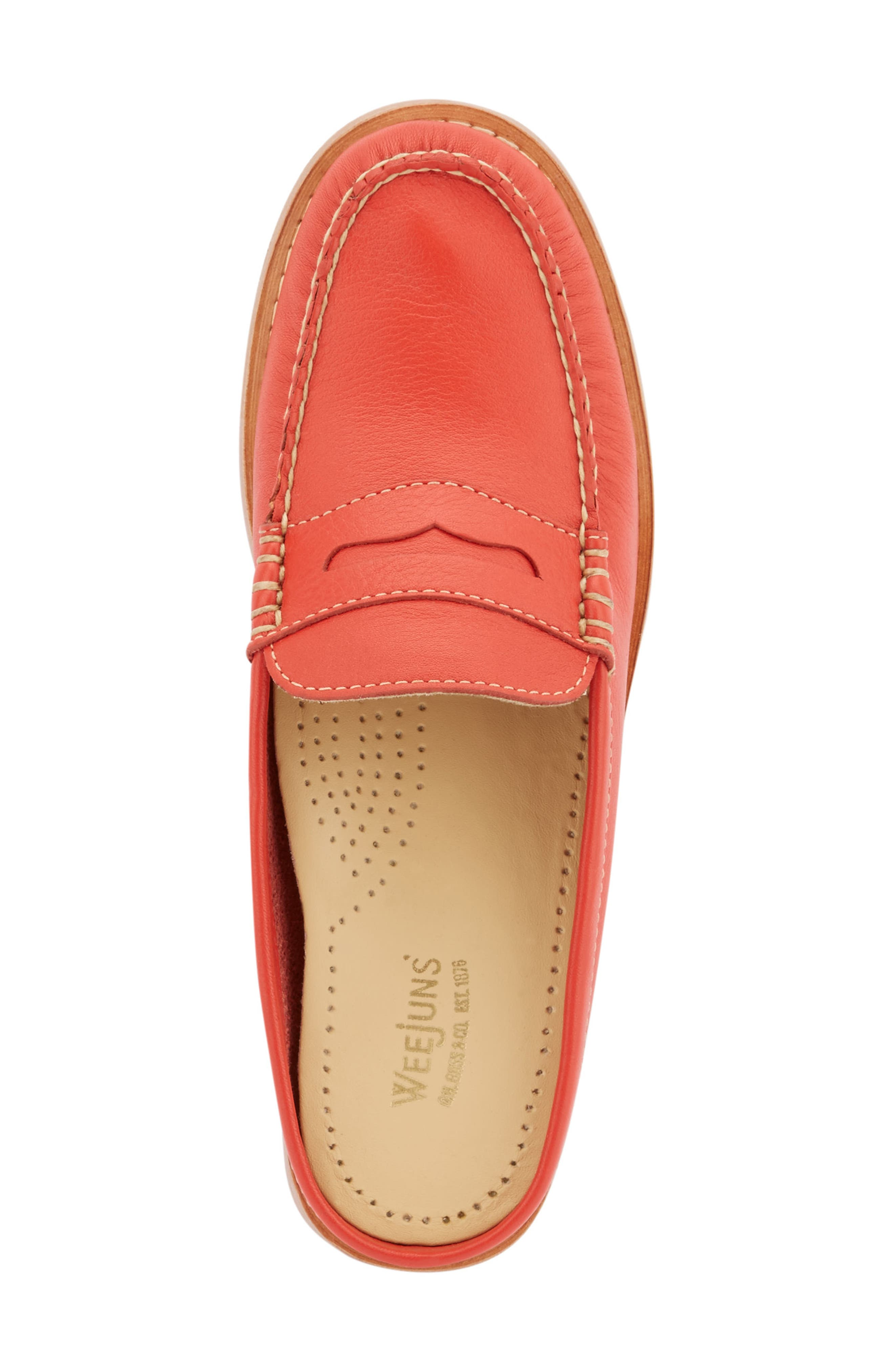 Wynn Loafer Mule,                             Alternate thumbnail 5, color,                             Roma Red Leather