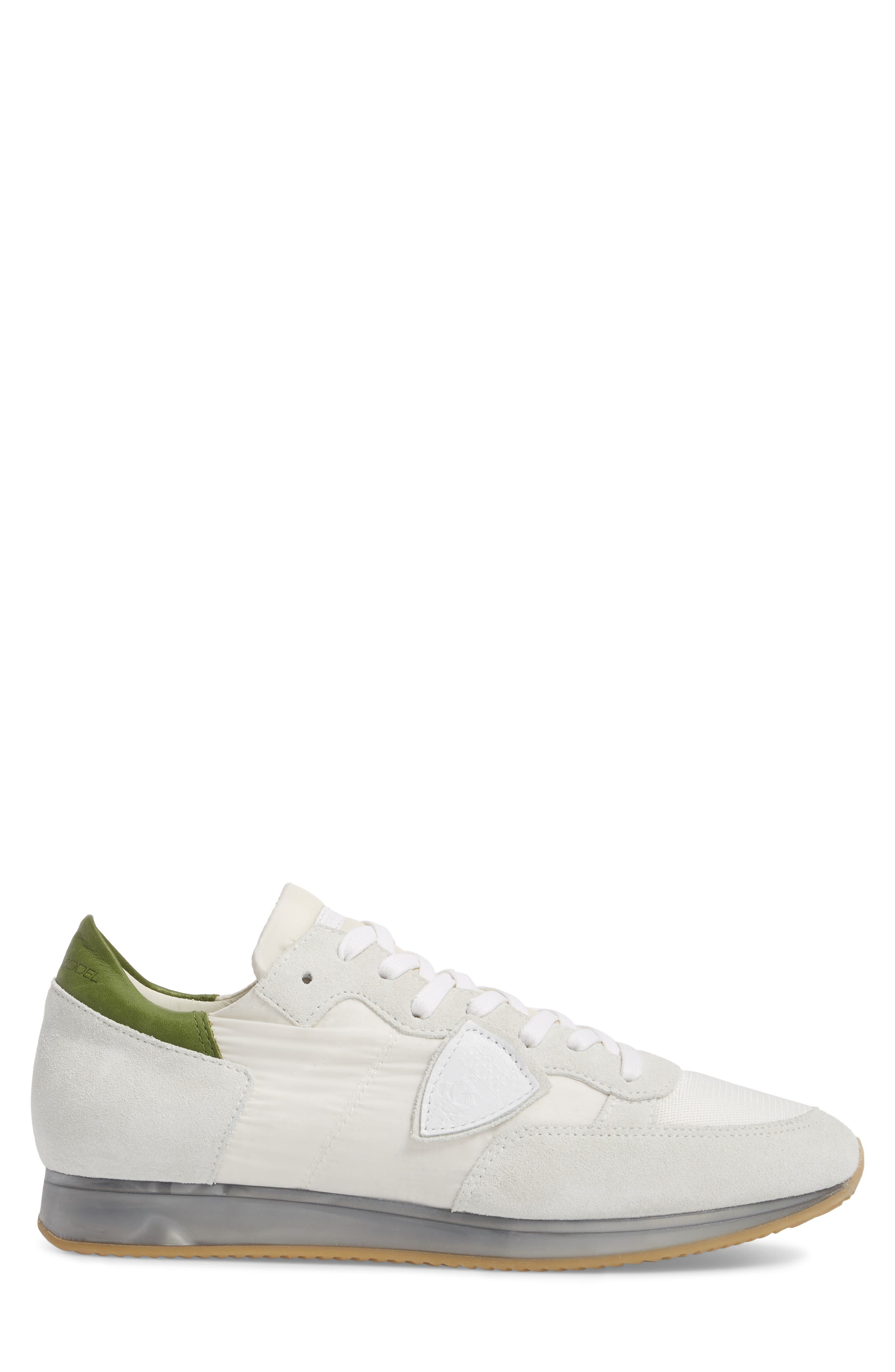 Tropez Sneaker,                             Alternate thumbnail 3, color,                             White/ Green