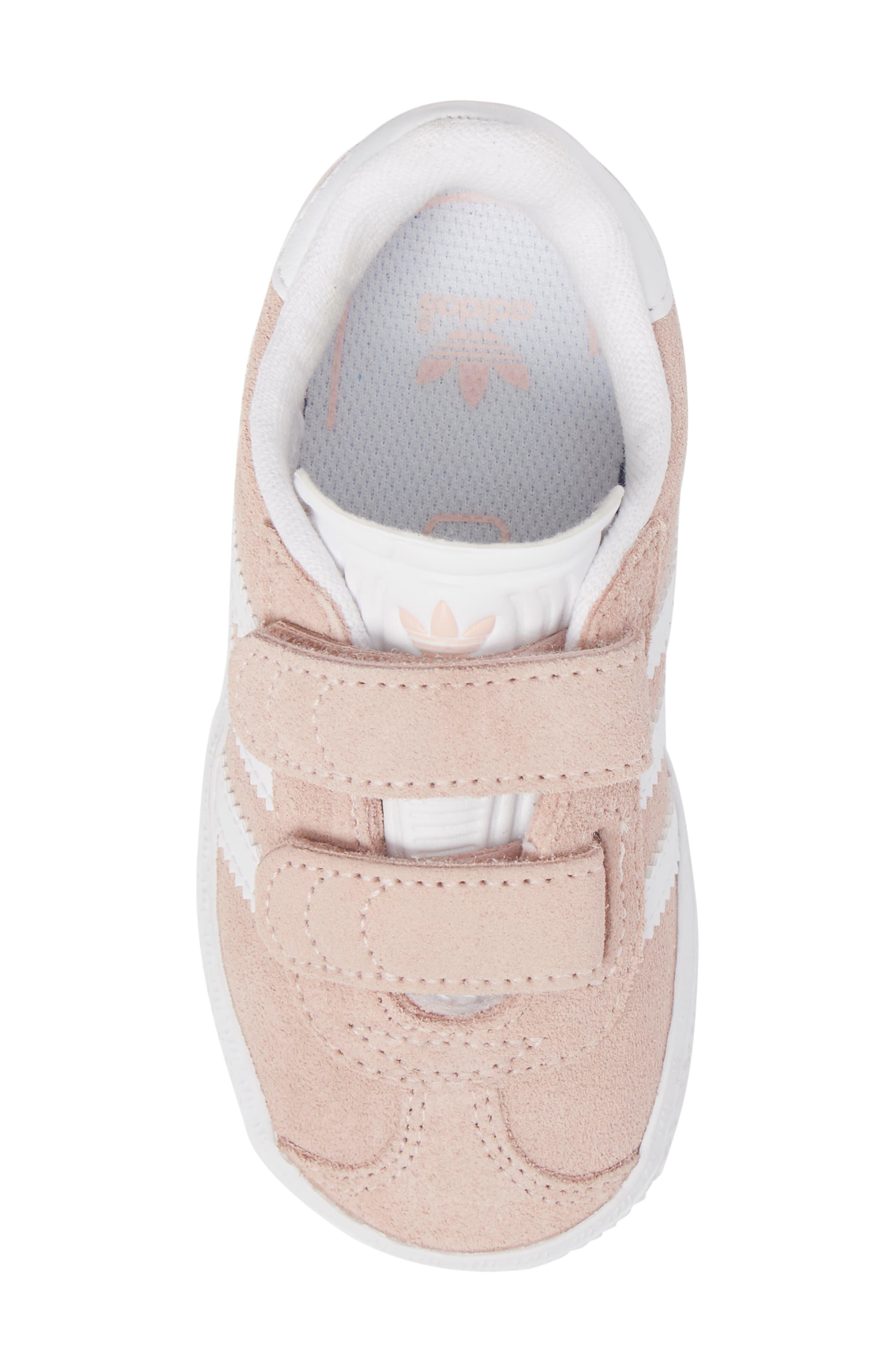 Gazelle Sneaker,                             Alternate thumbnail 5, color,                             Icey Pink / White / White