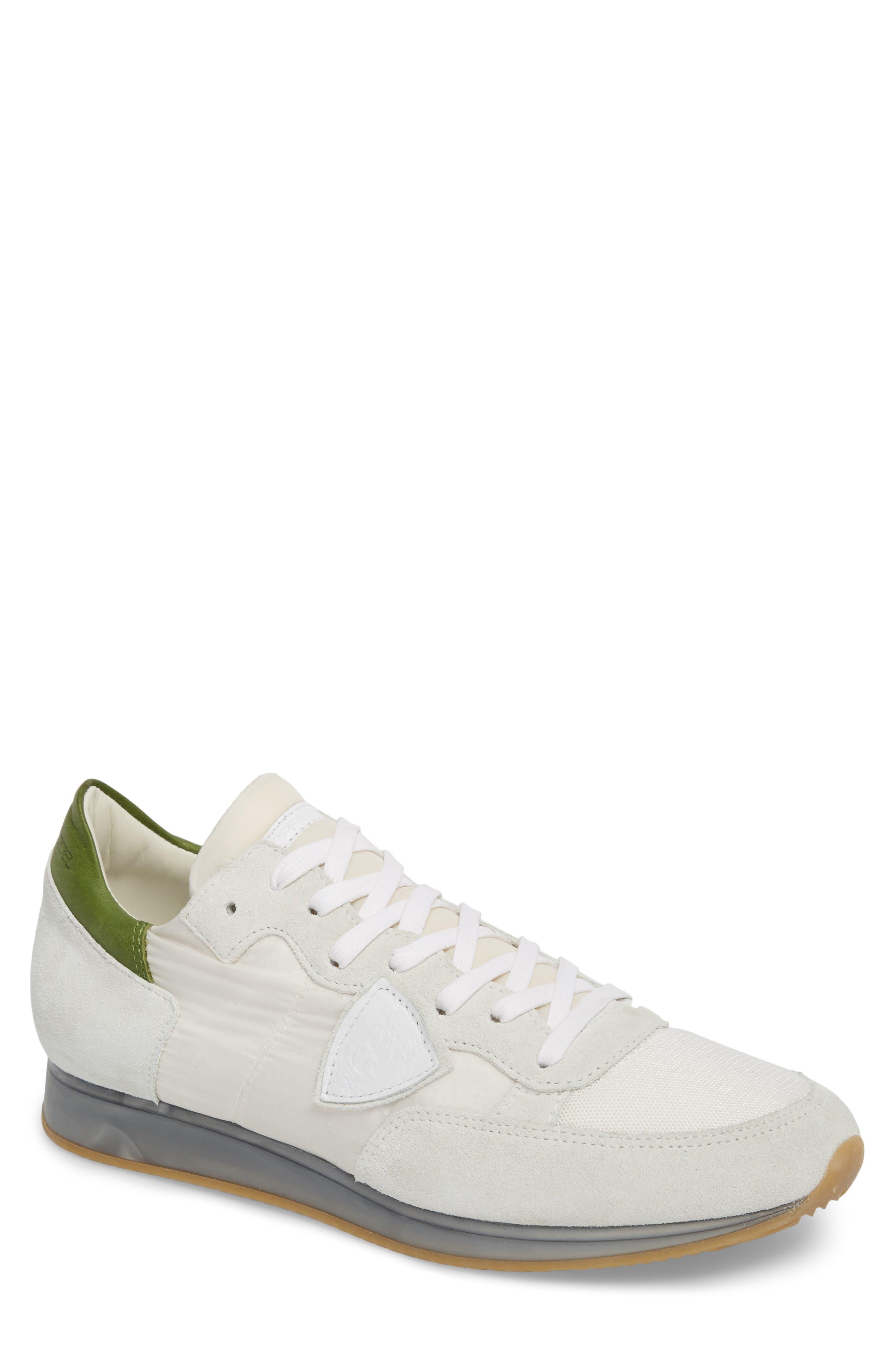 Tropez Sneaker,                             Main thumbnail 1, color,                             White/ Green